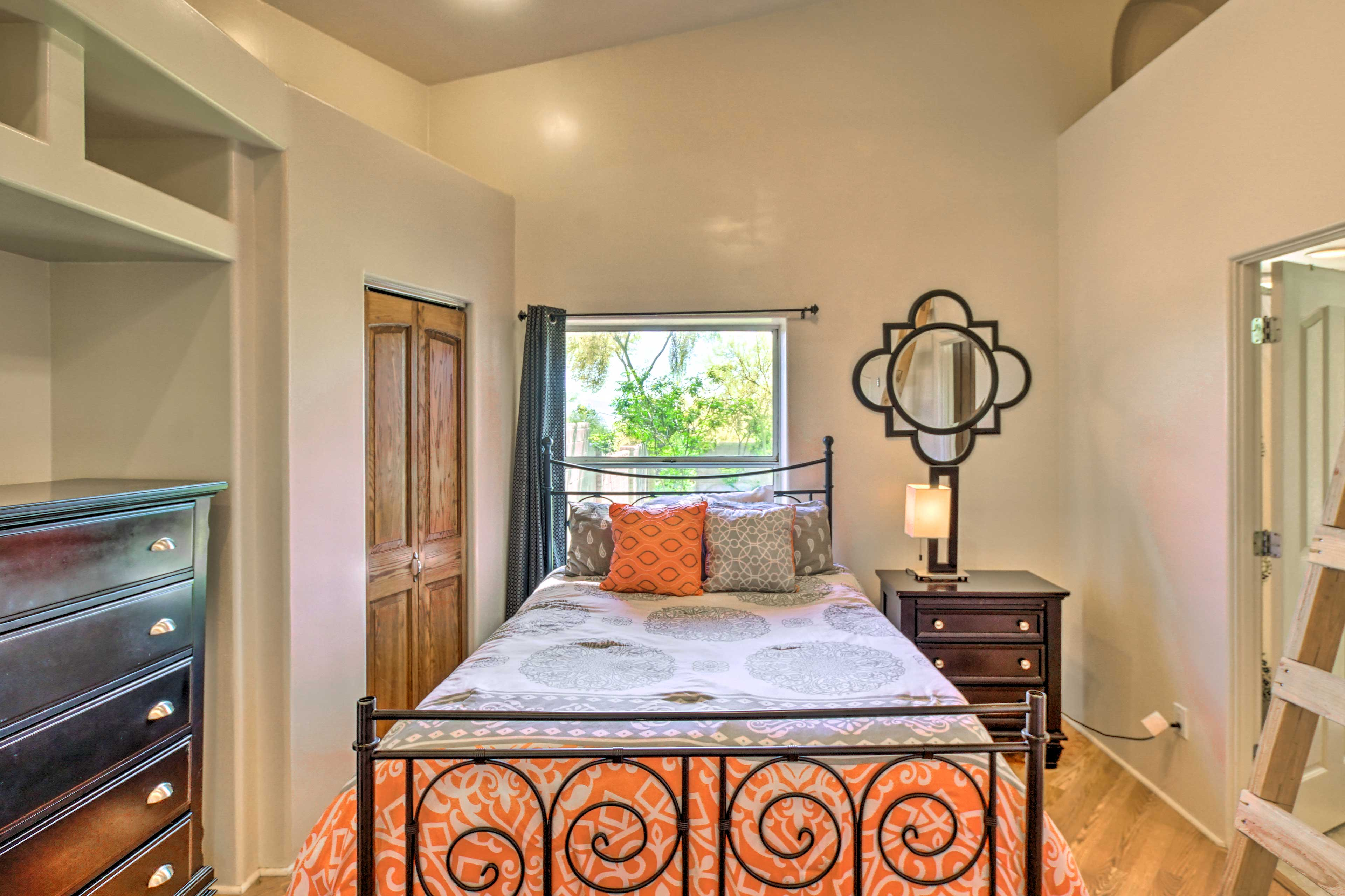 Sink into this full bed for a peaceful night of rest.