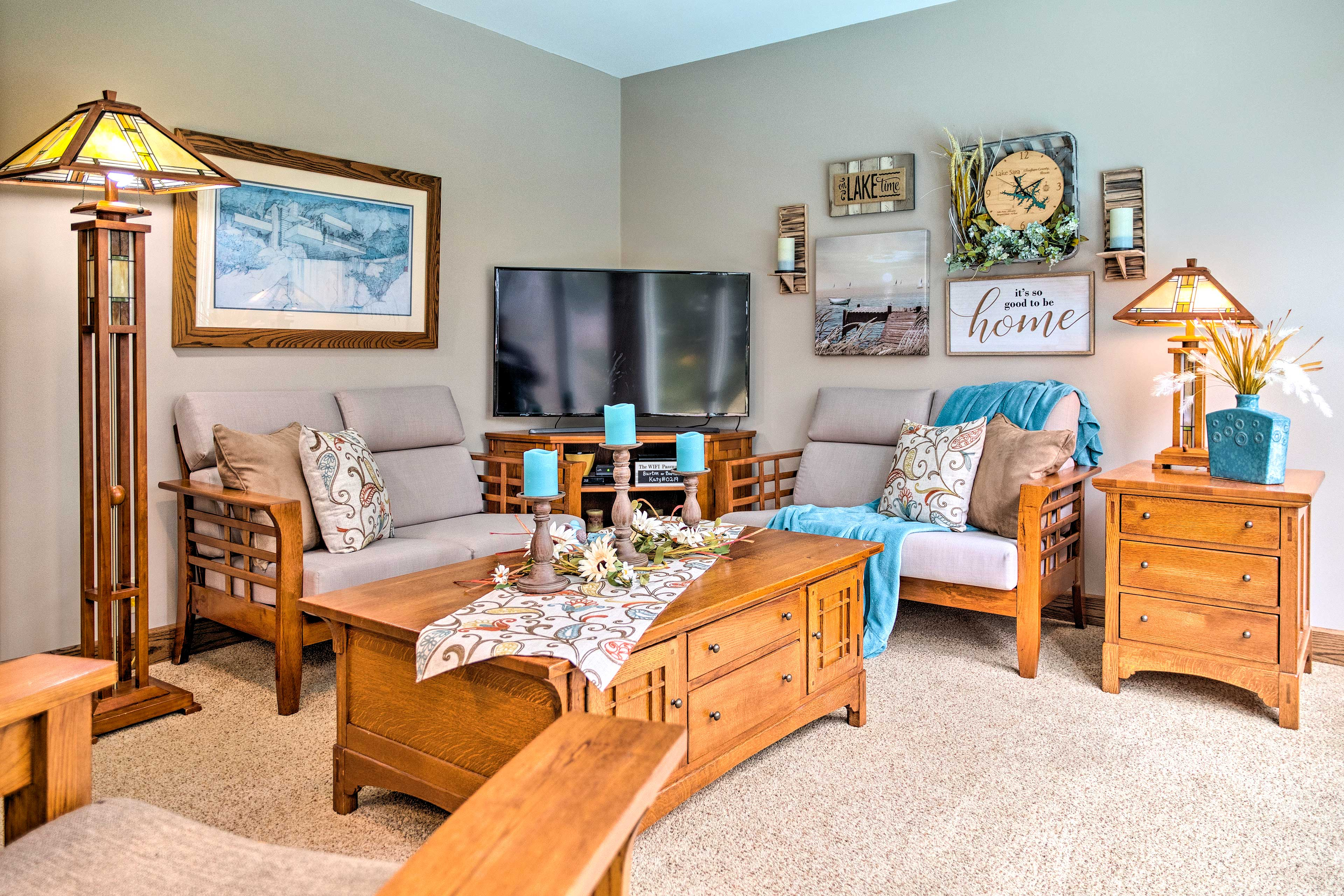 This inviting living space will have you feel right at home!