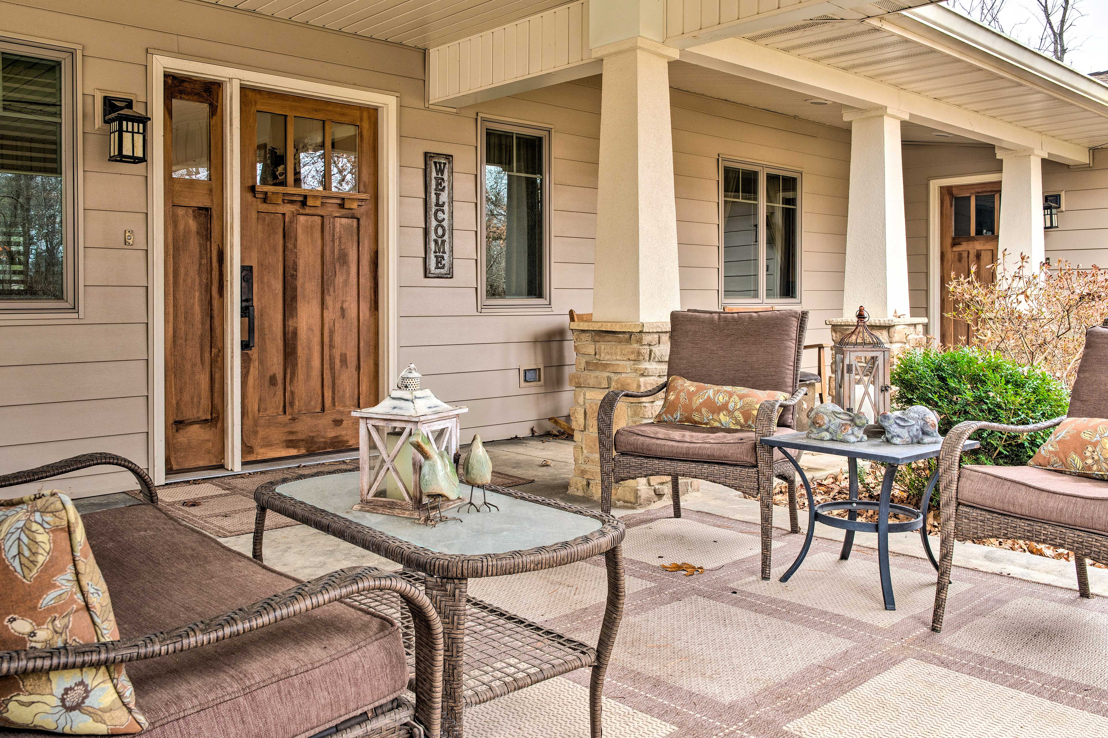 Spend a peaceful morning on the covered front porch.