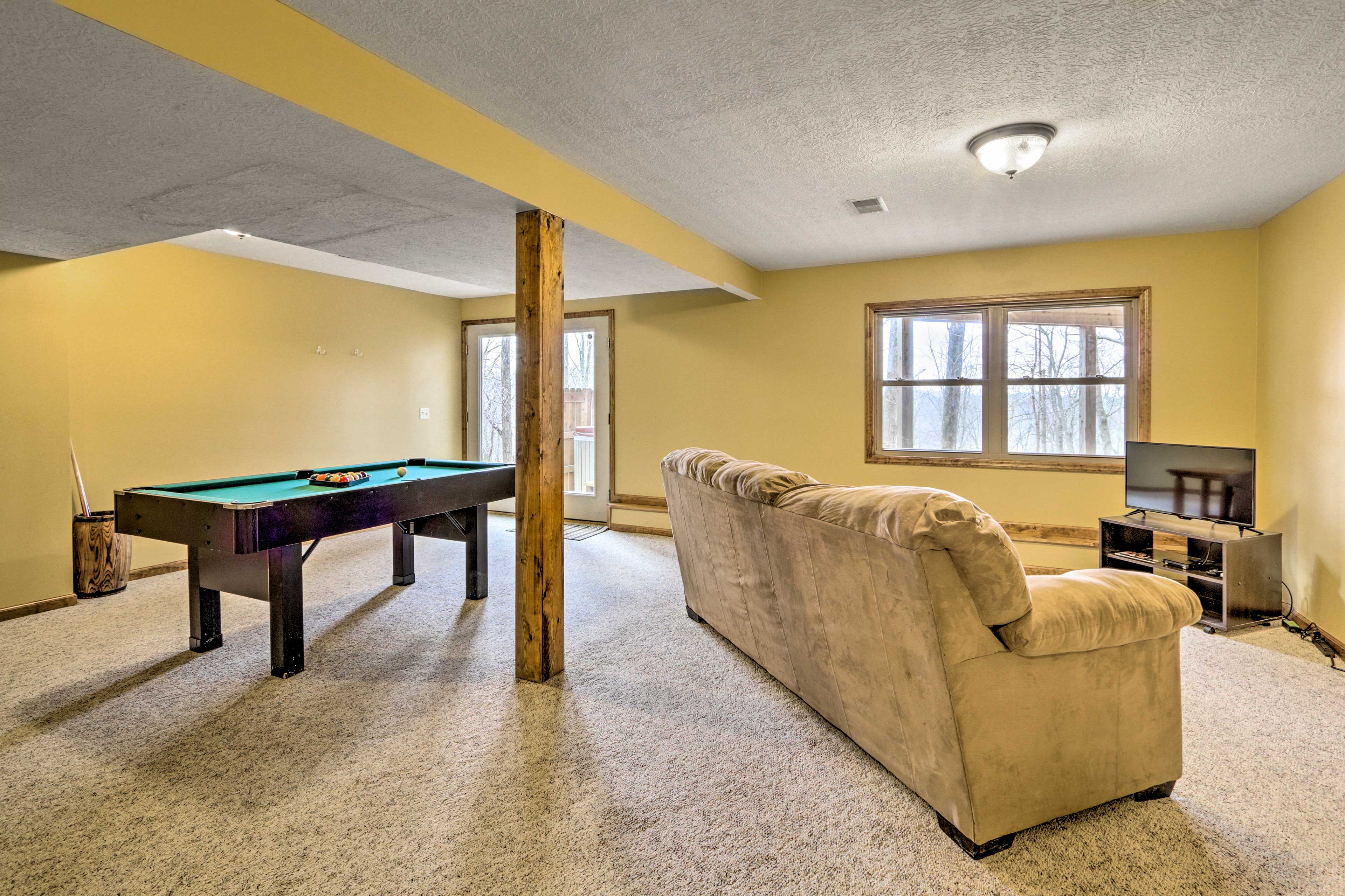 Practice up on your pool game to impress everyone in the house.