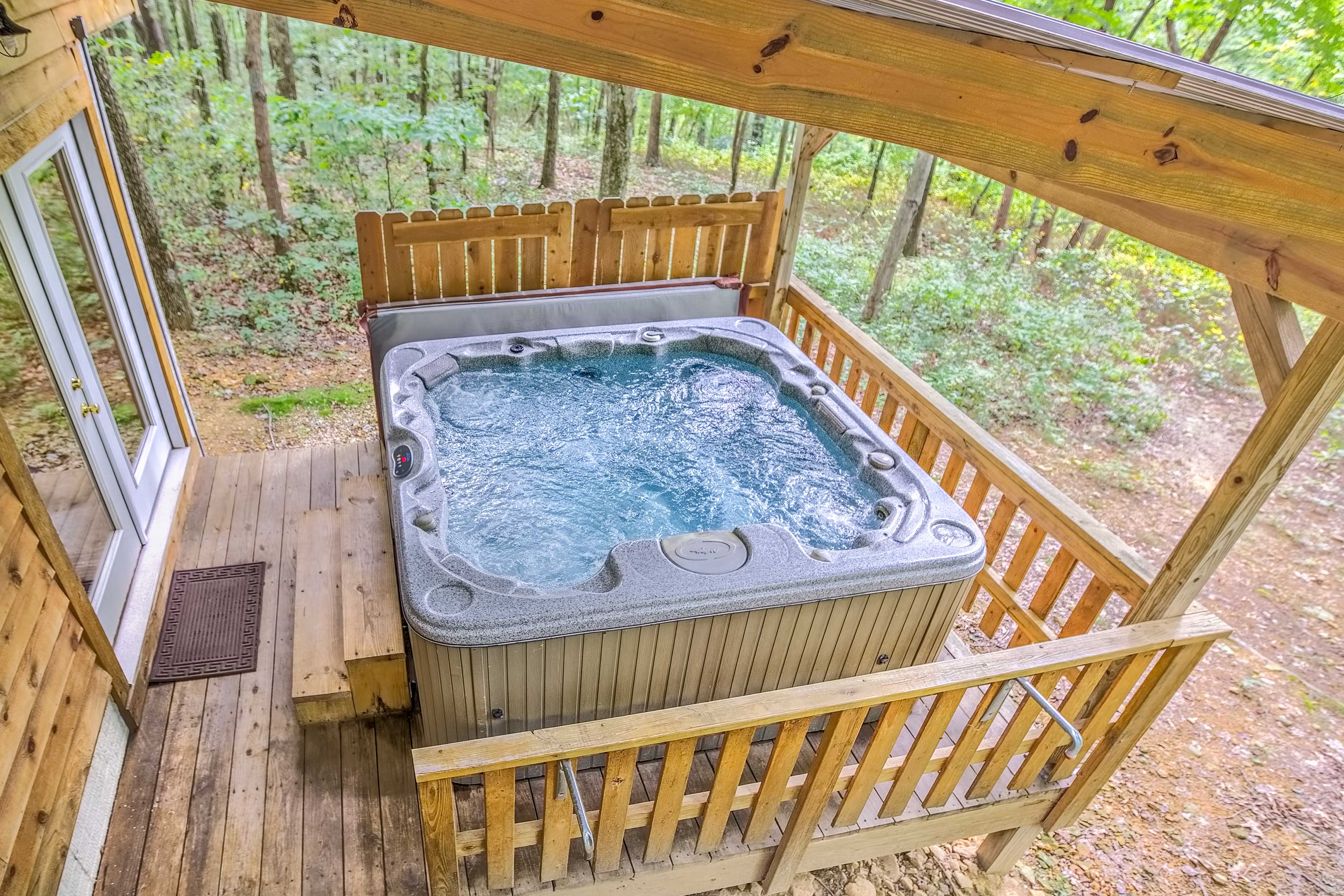 Sink into the hot tub and relax!