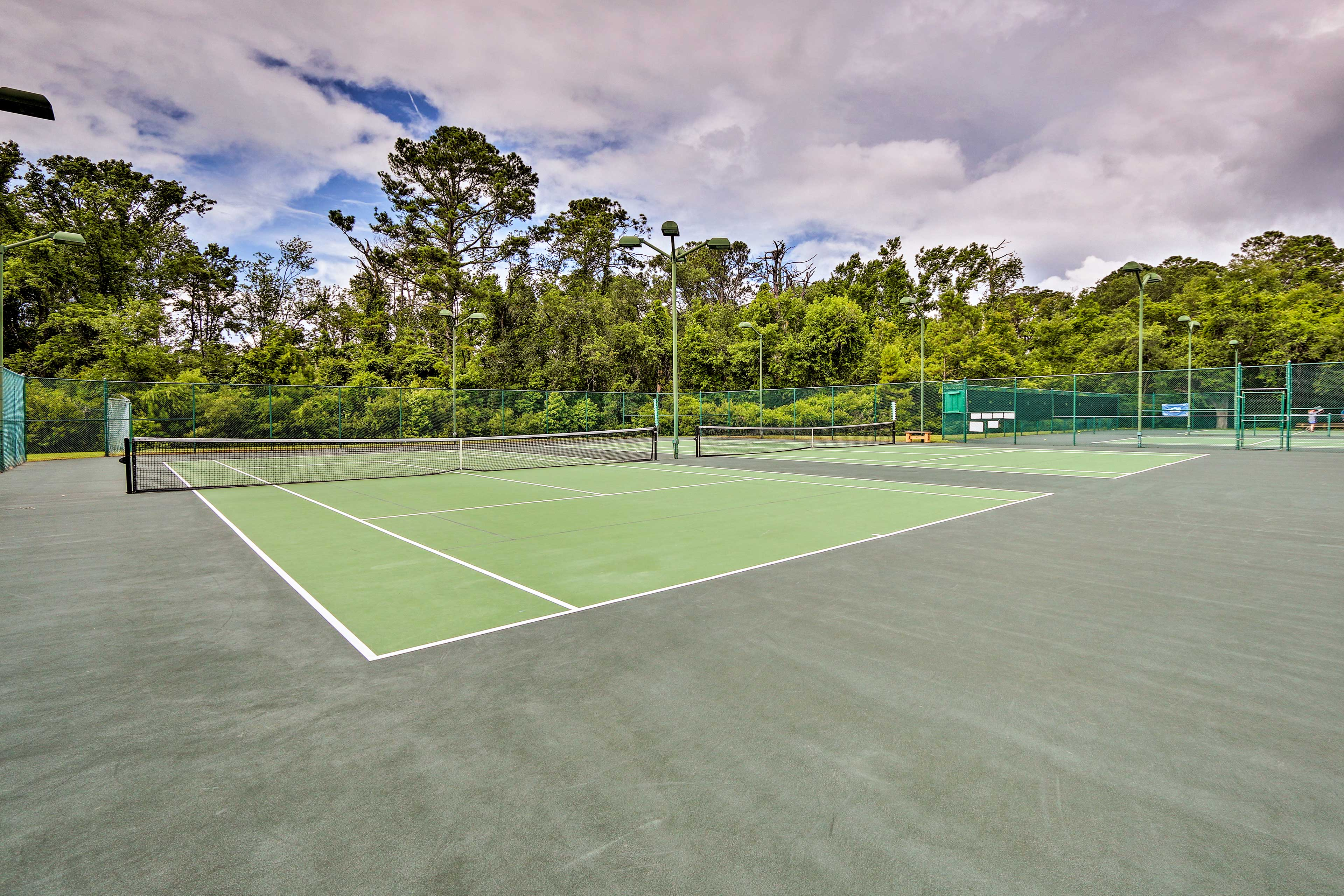 Play a few rounds of tennis.