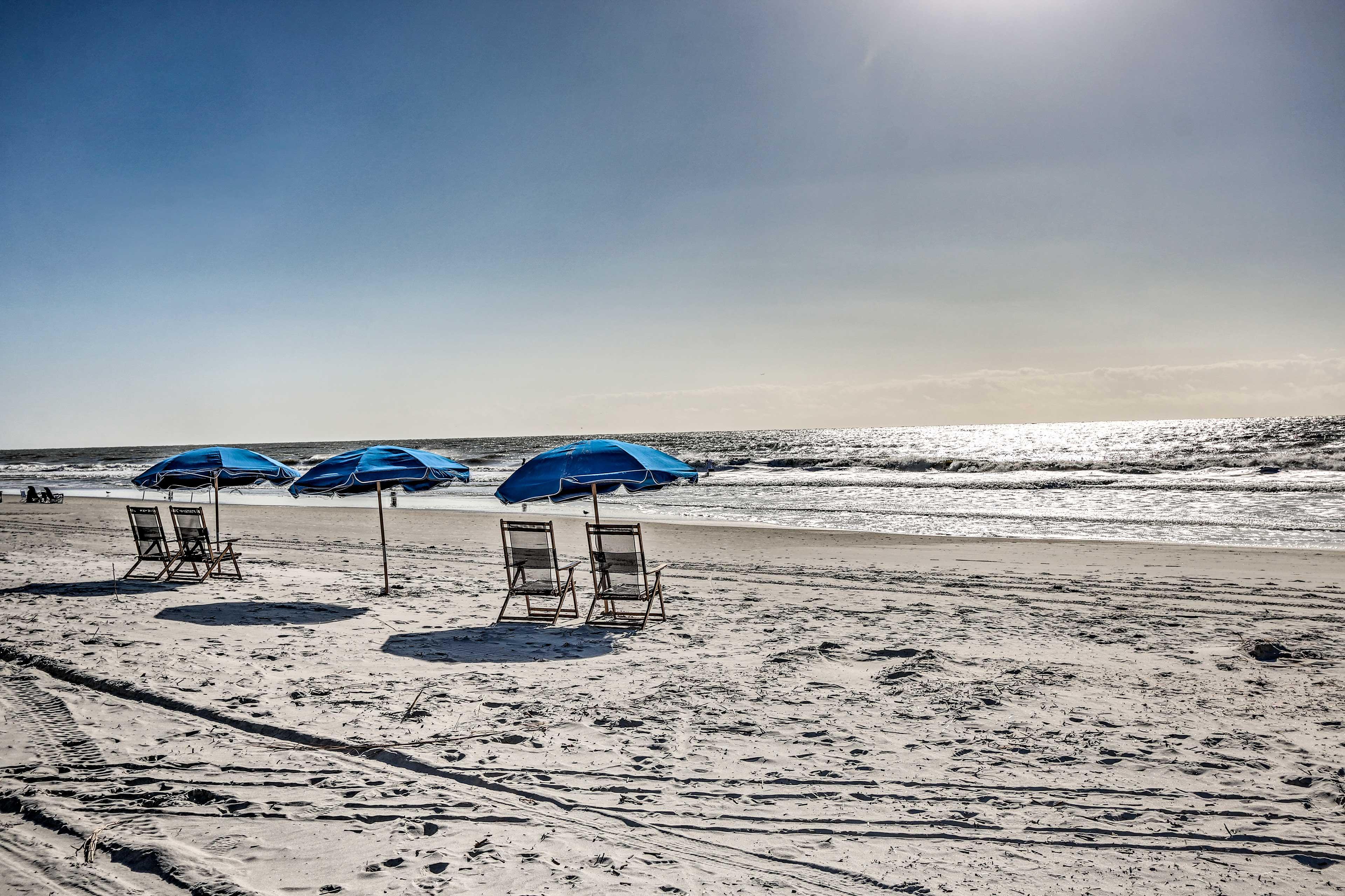 The vacation rental condo boats beach access.