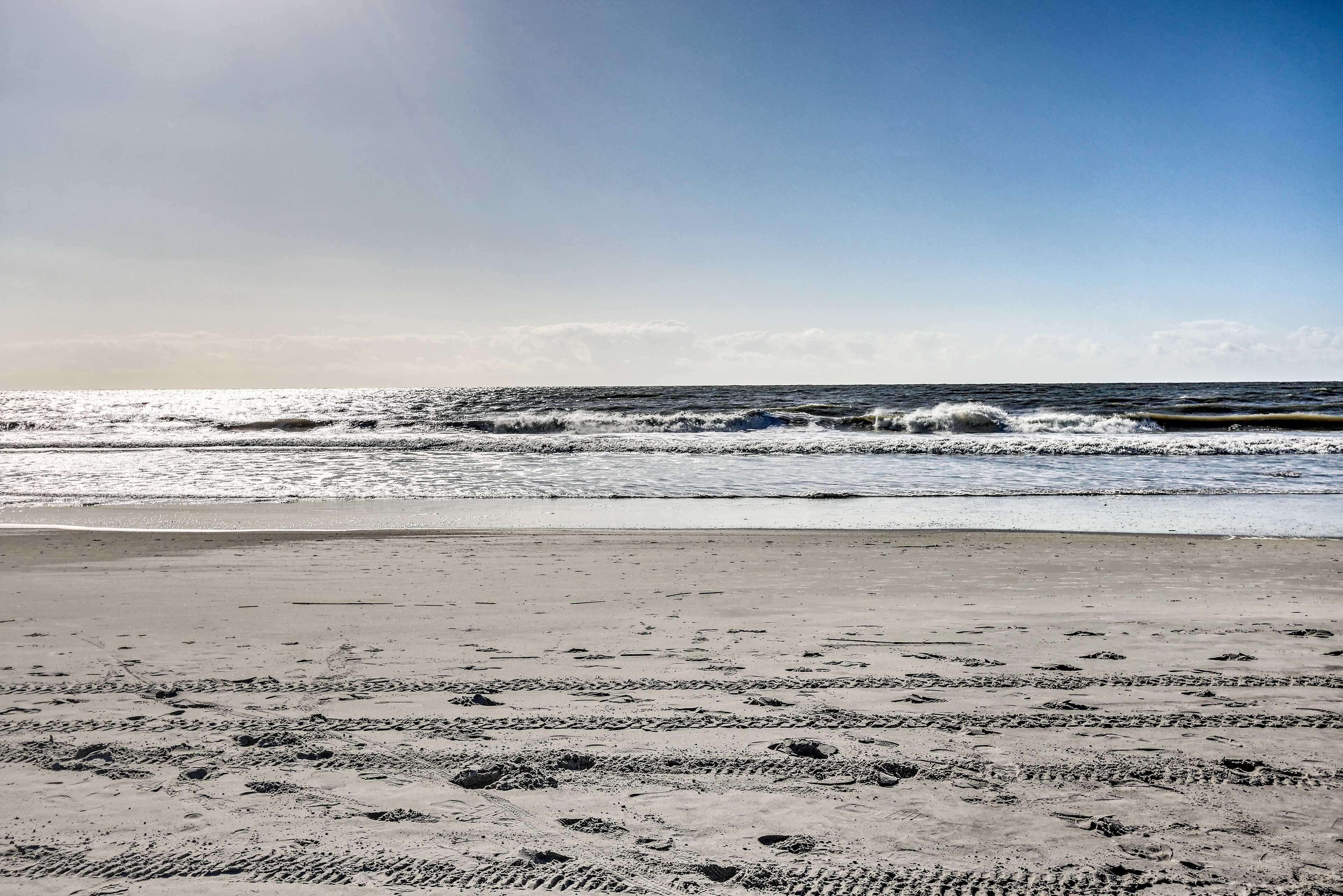 Spend your days splashing around the waves.