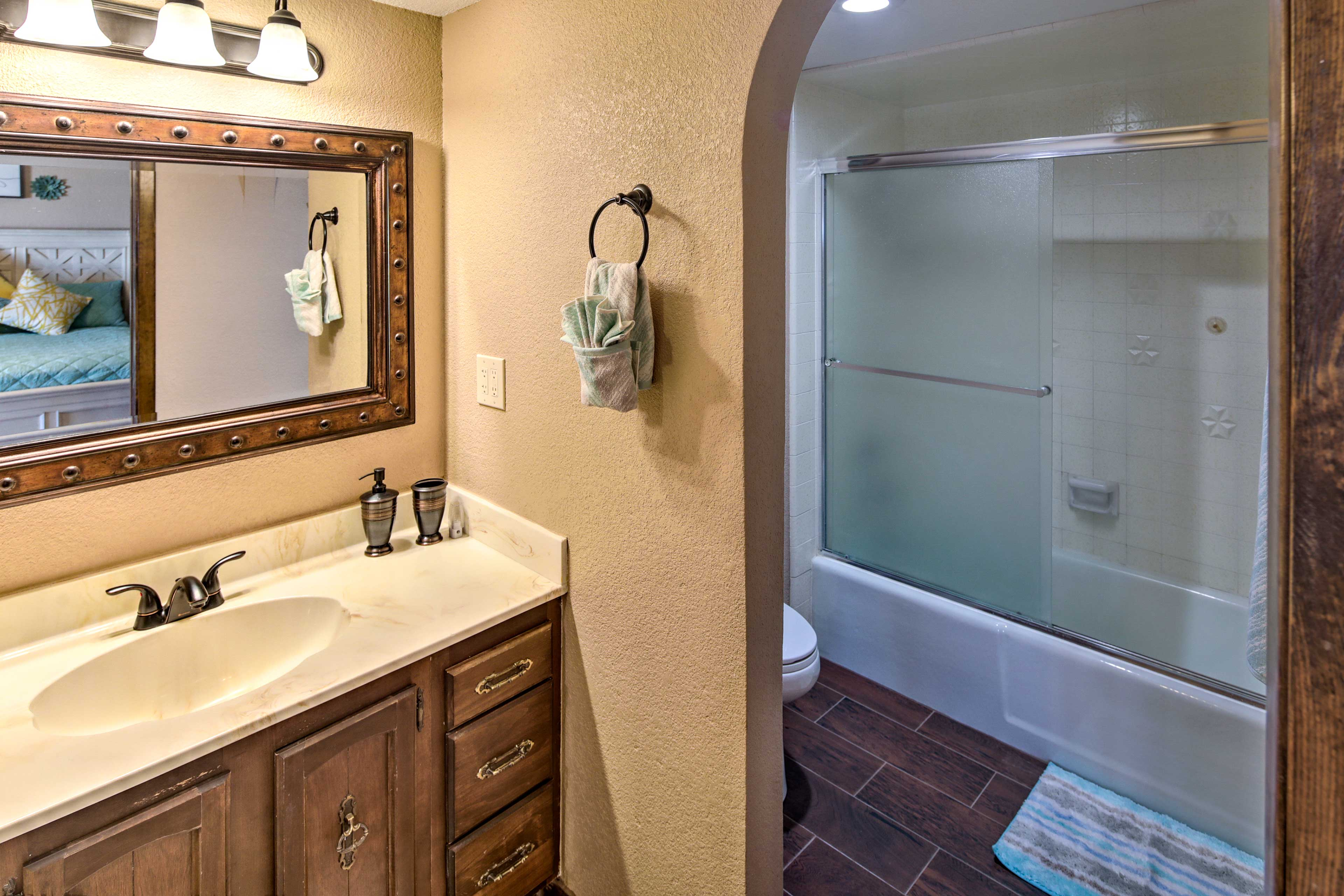 Freshen up in the privacy of your own shower.