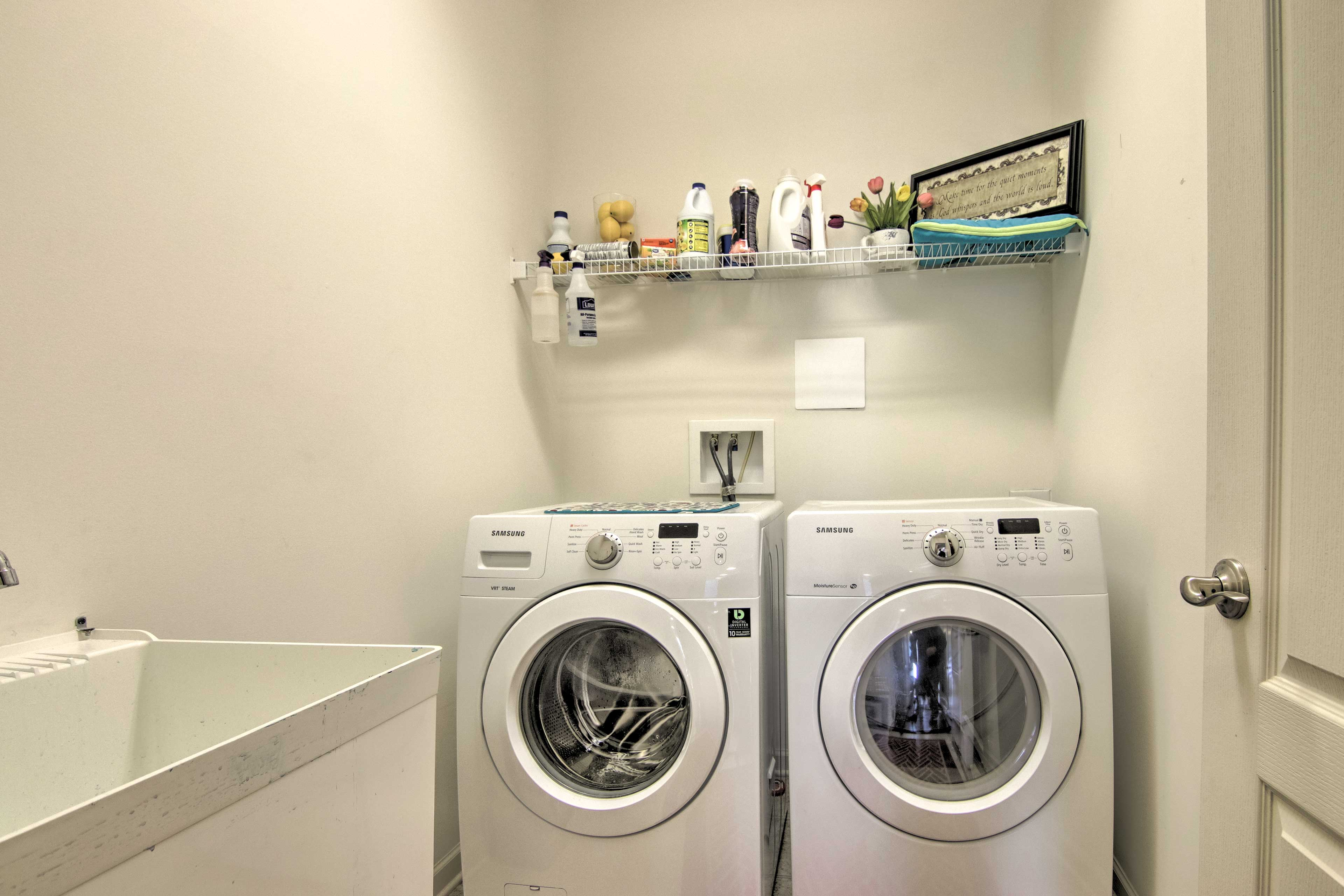 Wash clothes on-site at your convenience.
