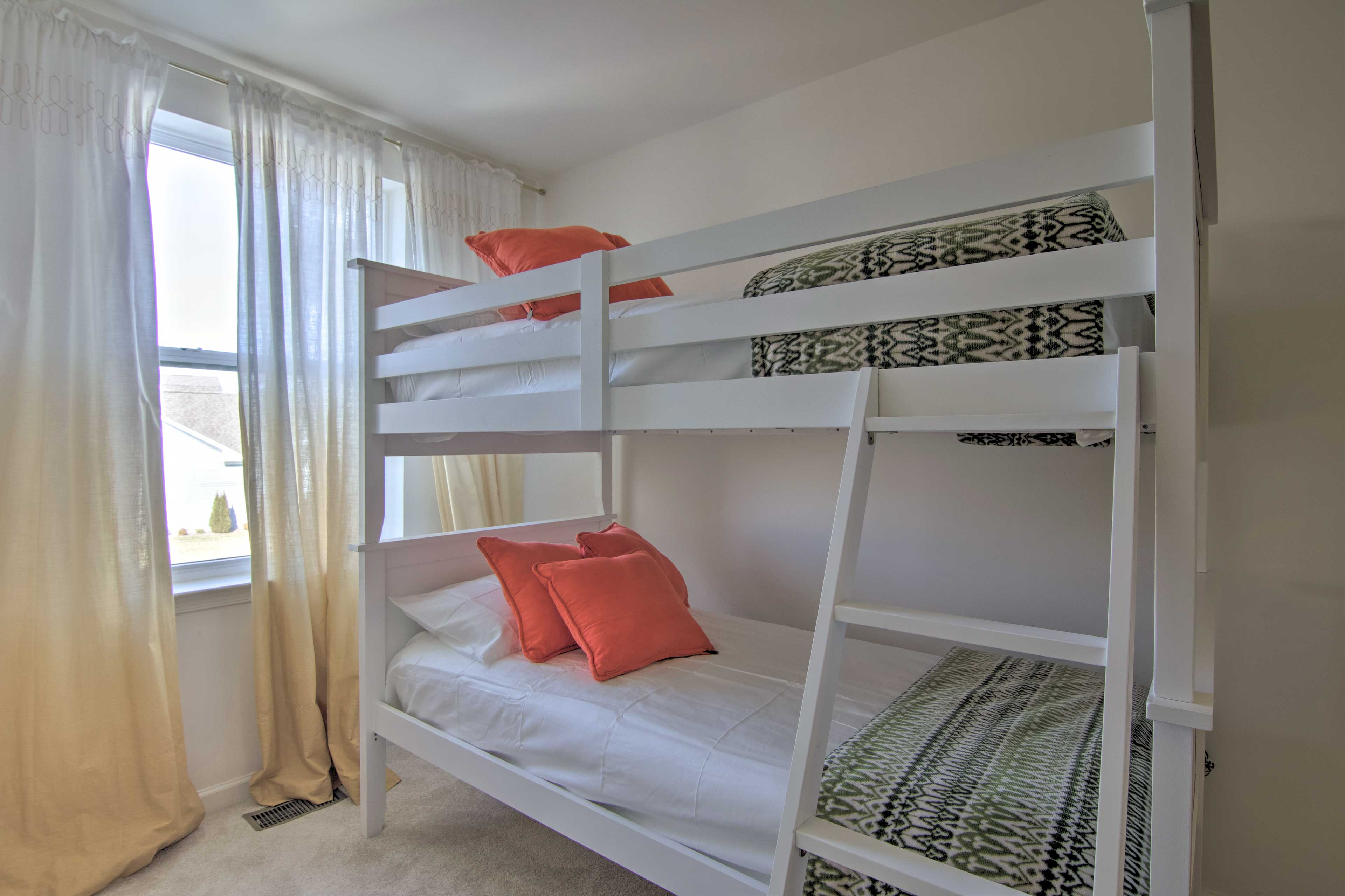 The kids will feel right at home in the twin bunks.