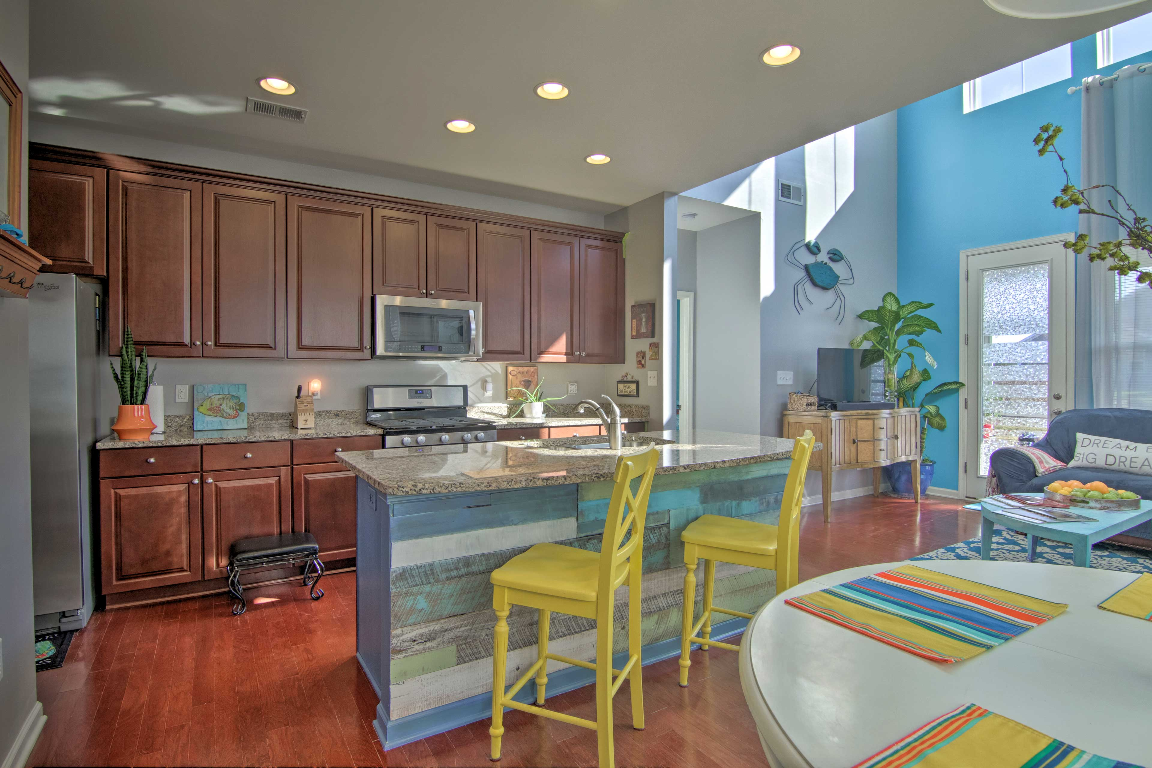 Easily prepare all your favorite meals in this vacation rental's modern kitchen.