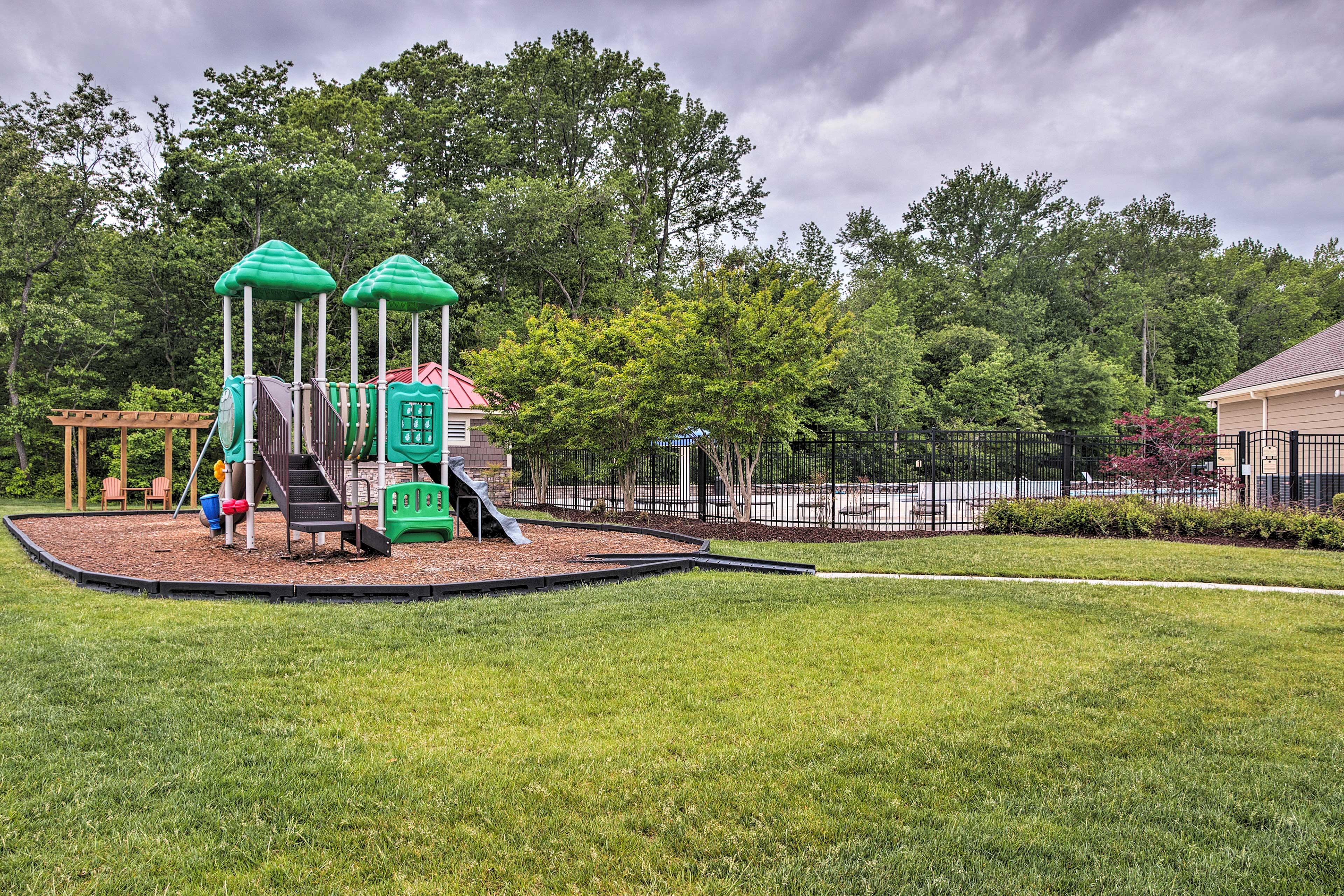 The kids will love the playground.