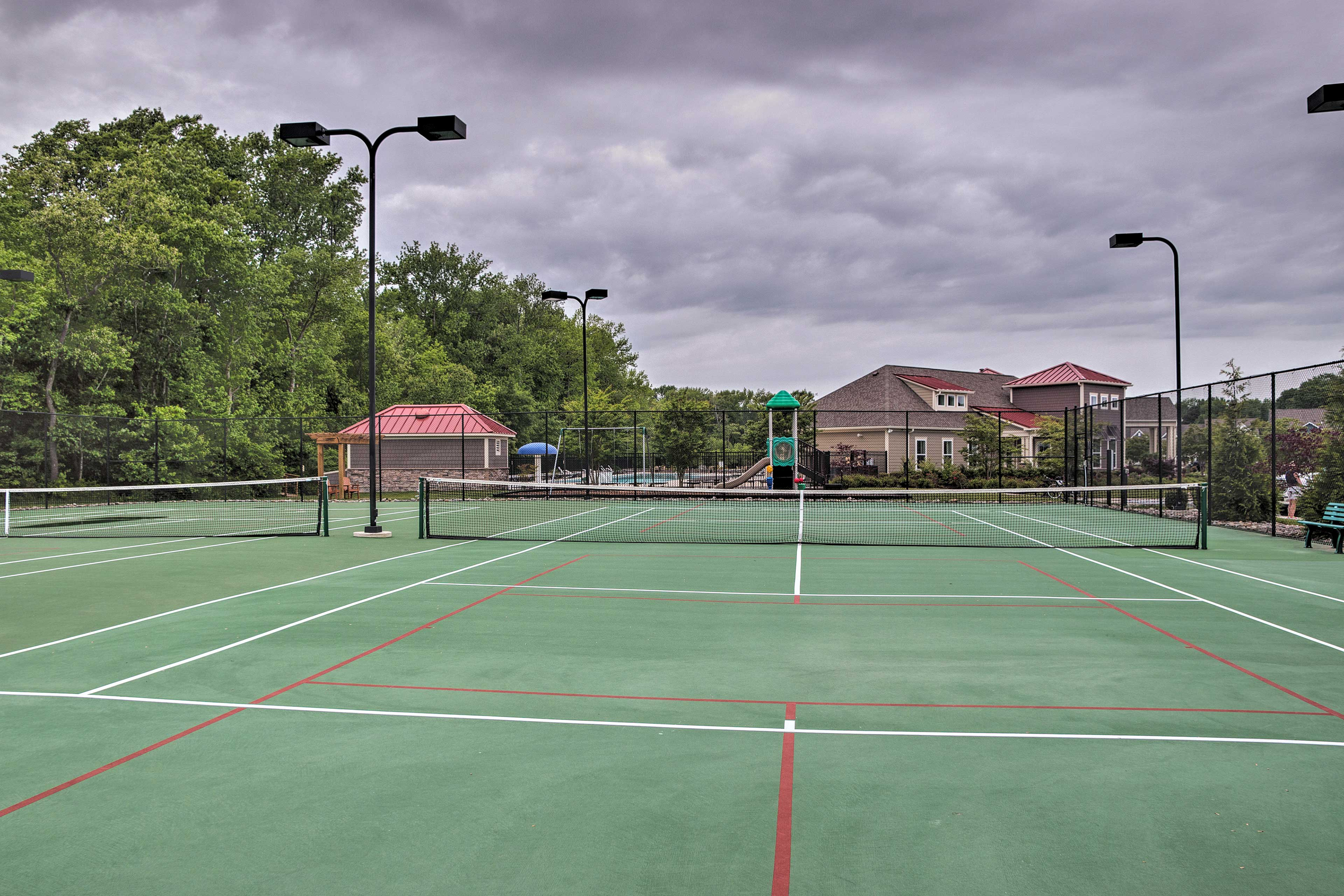 Bring your rackets and head to the courts.