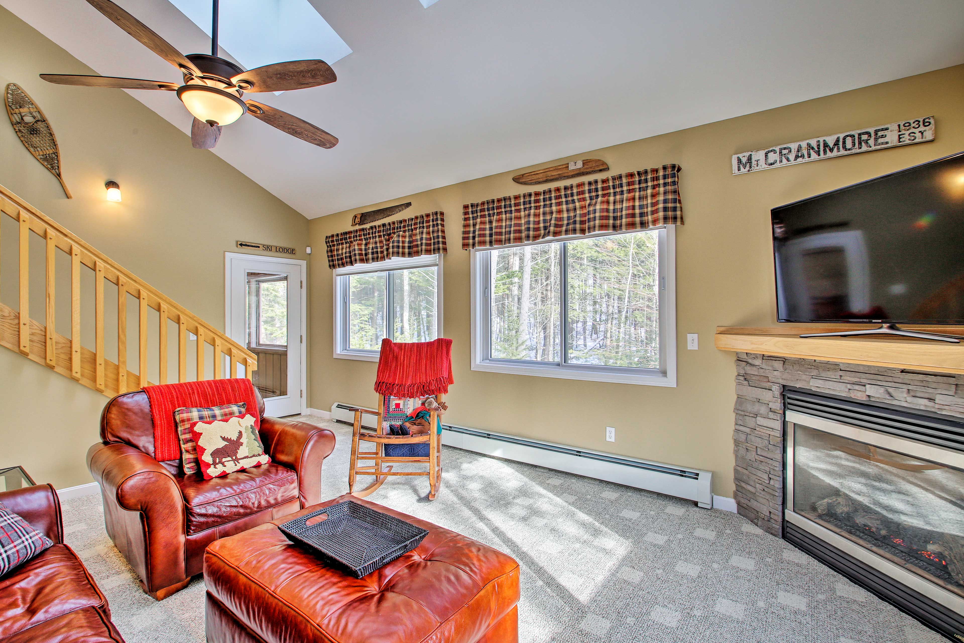 Mt Cranmore is less than 1 mile from the vacation rental's doors.