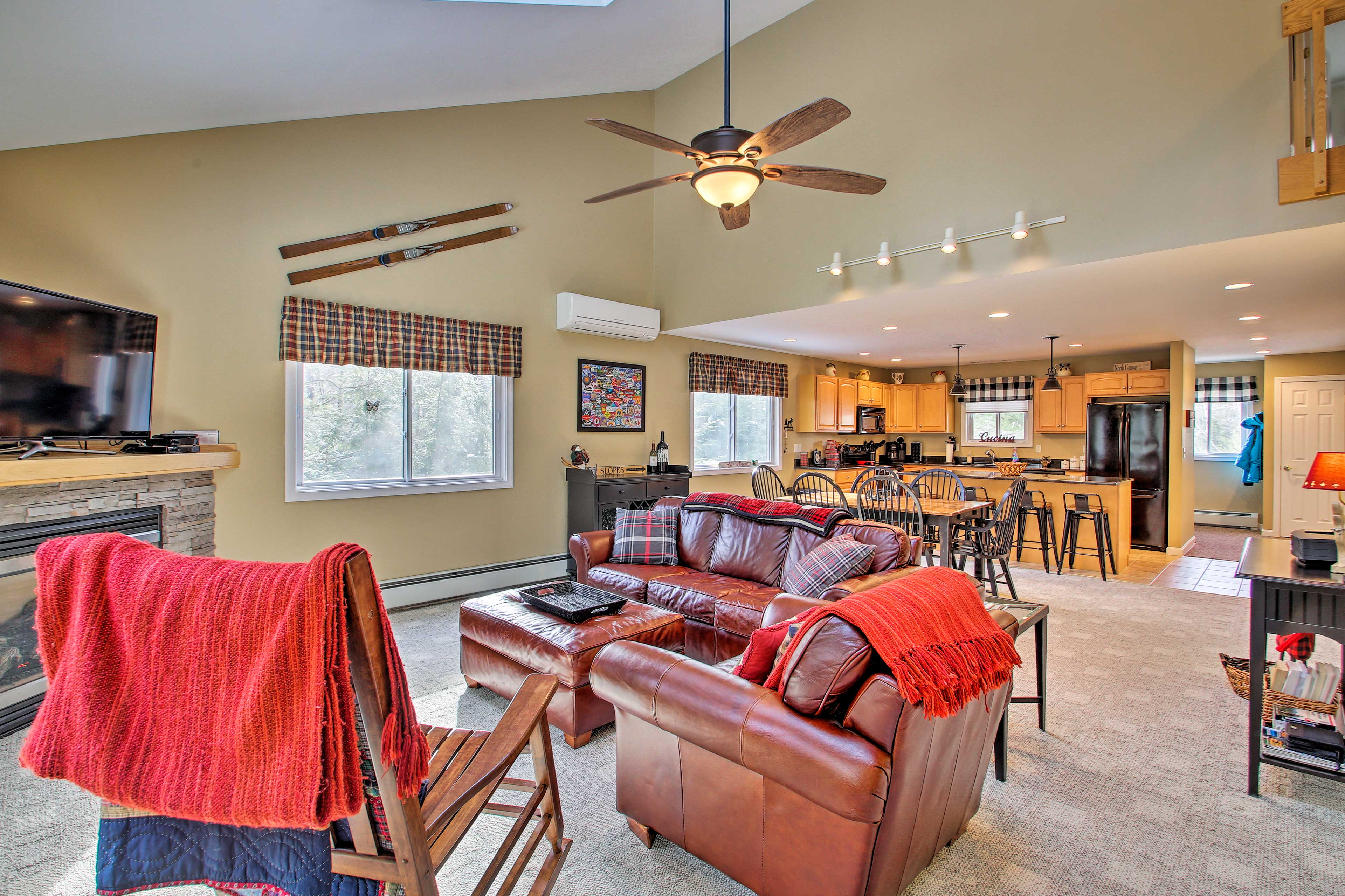 The open layout makes it easy for friends and family to socialize.
