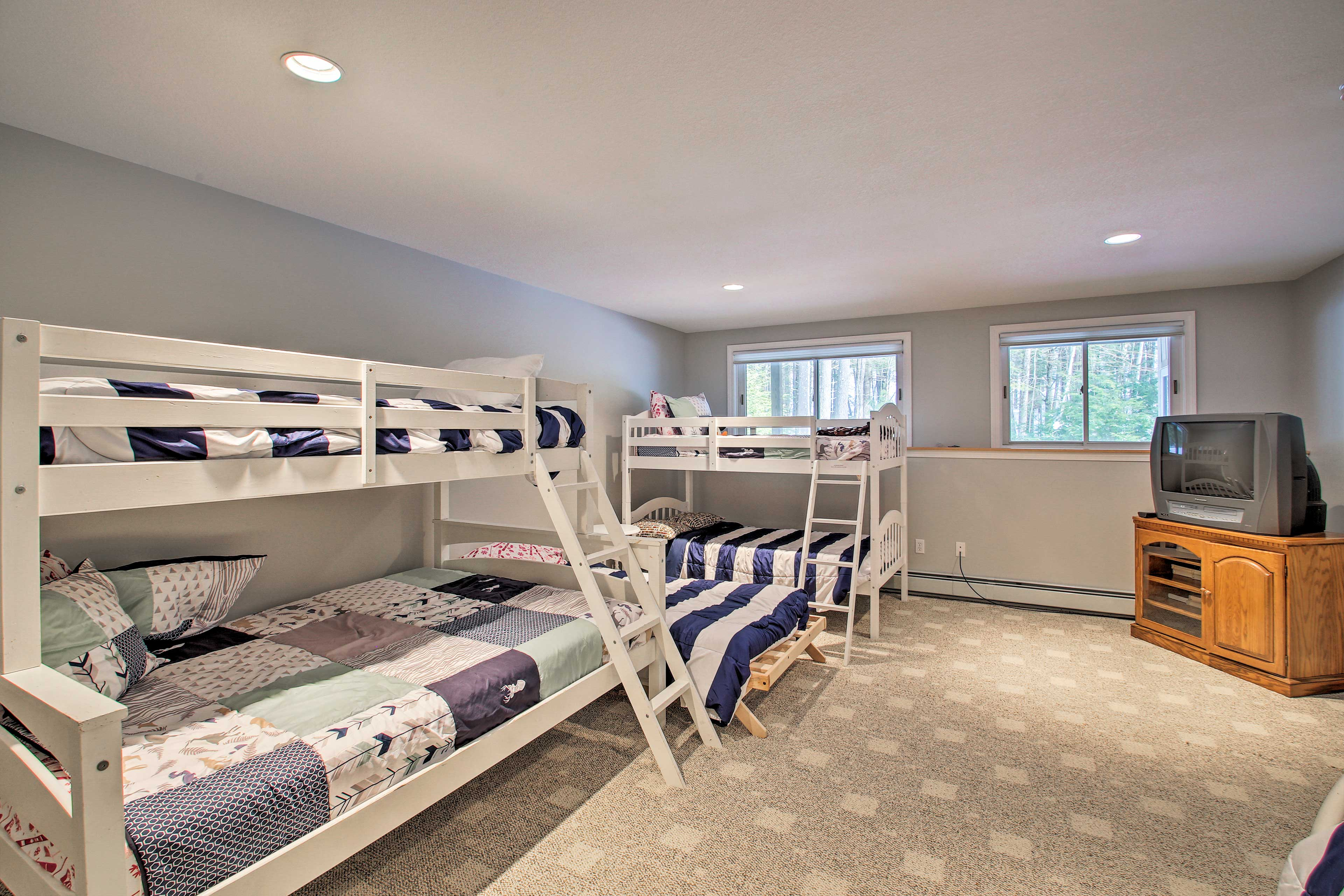 The bunk room sleeps up to 6 guests.