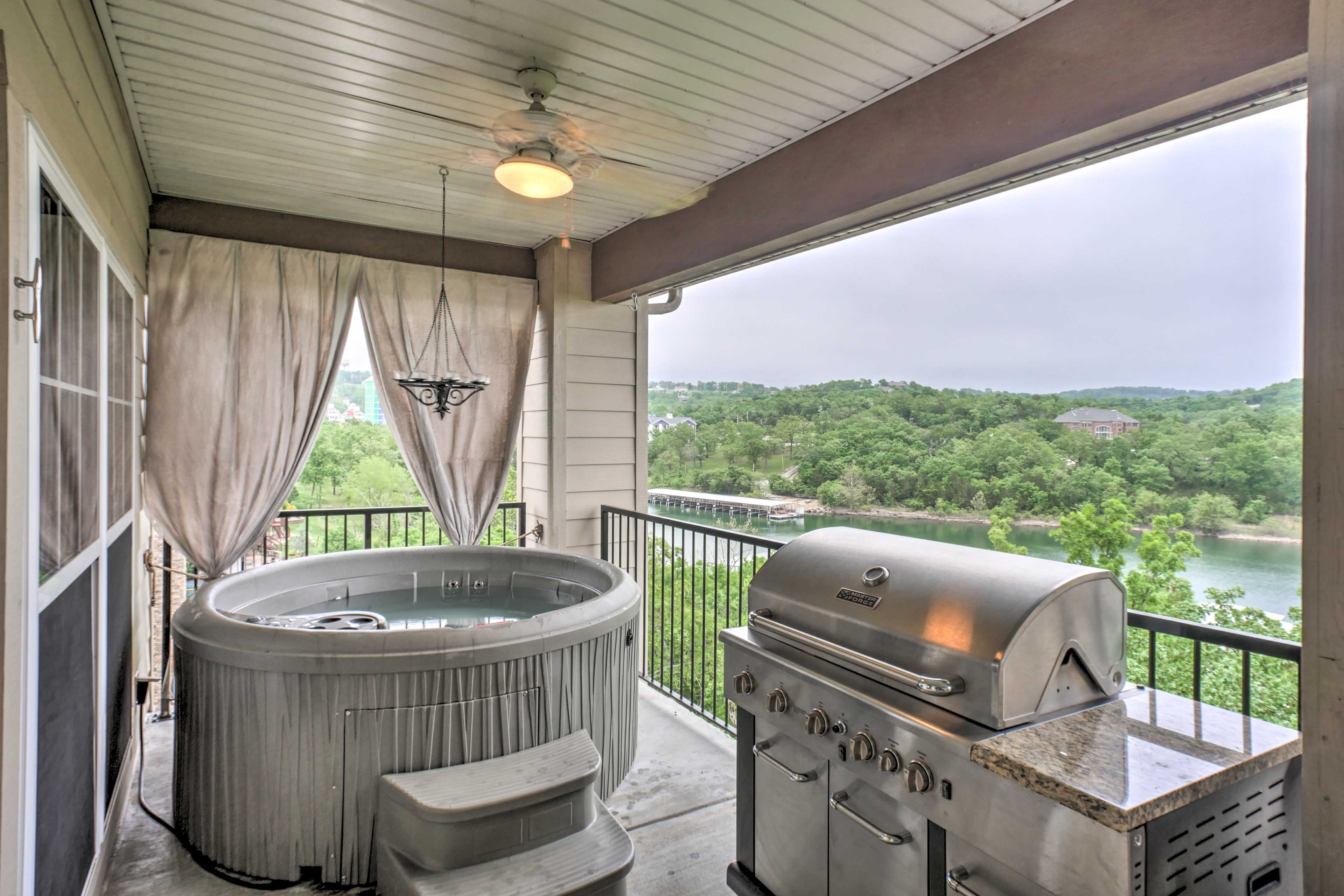 Ease into Branson's river life at this upscale condo with a view!