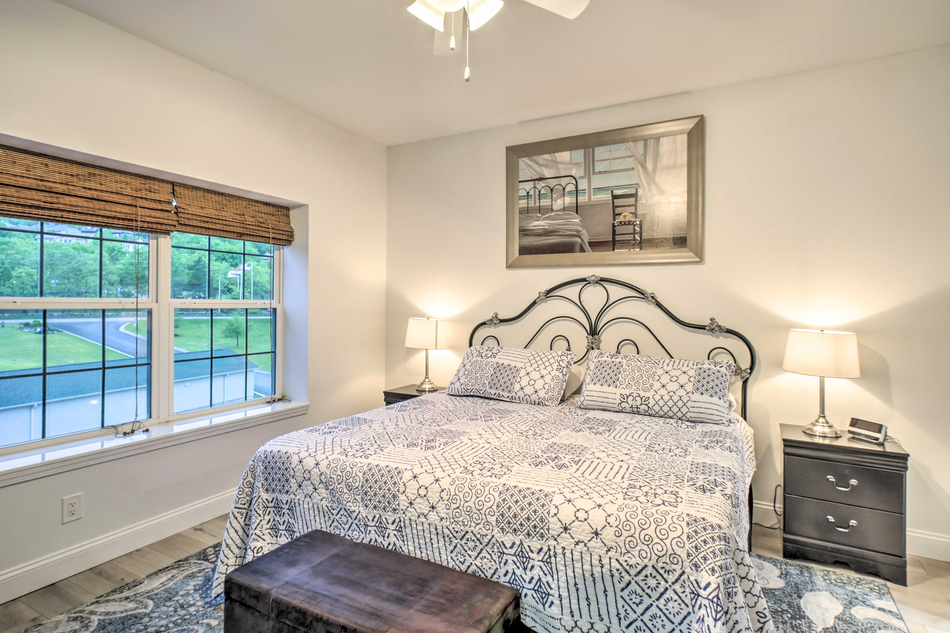 The second bedroom features a king-sized bed.