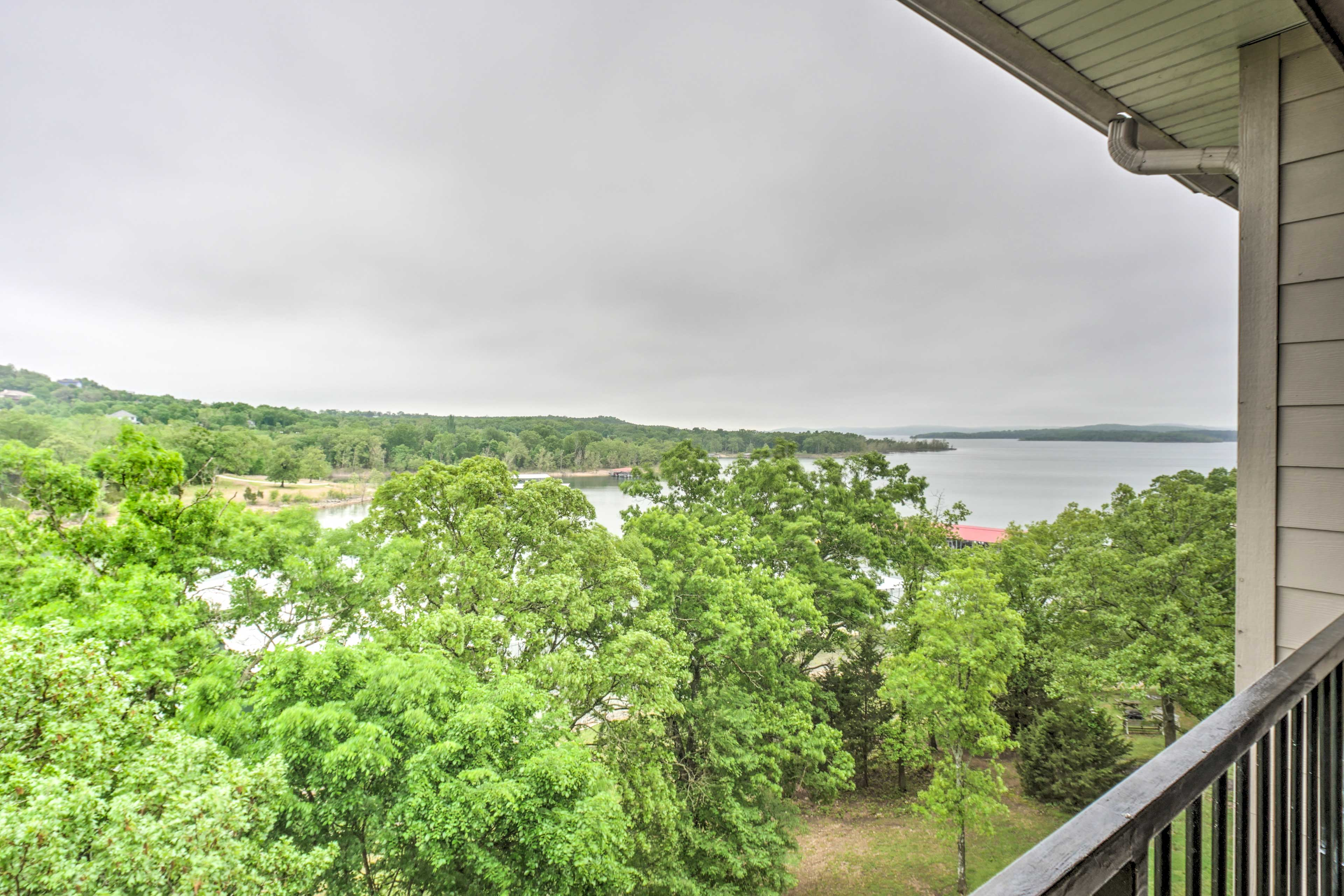 This condo has unbeatable views of the river.