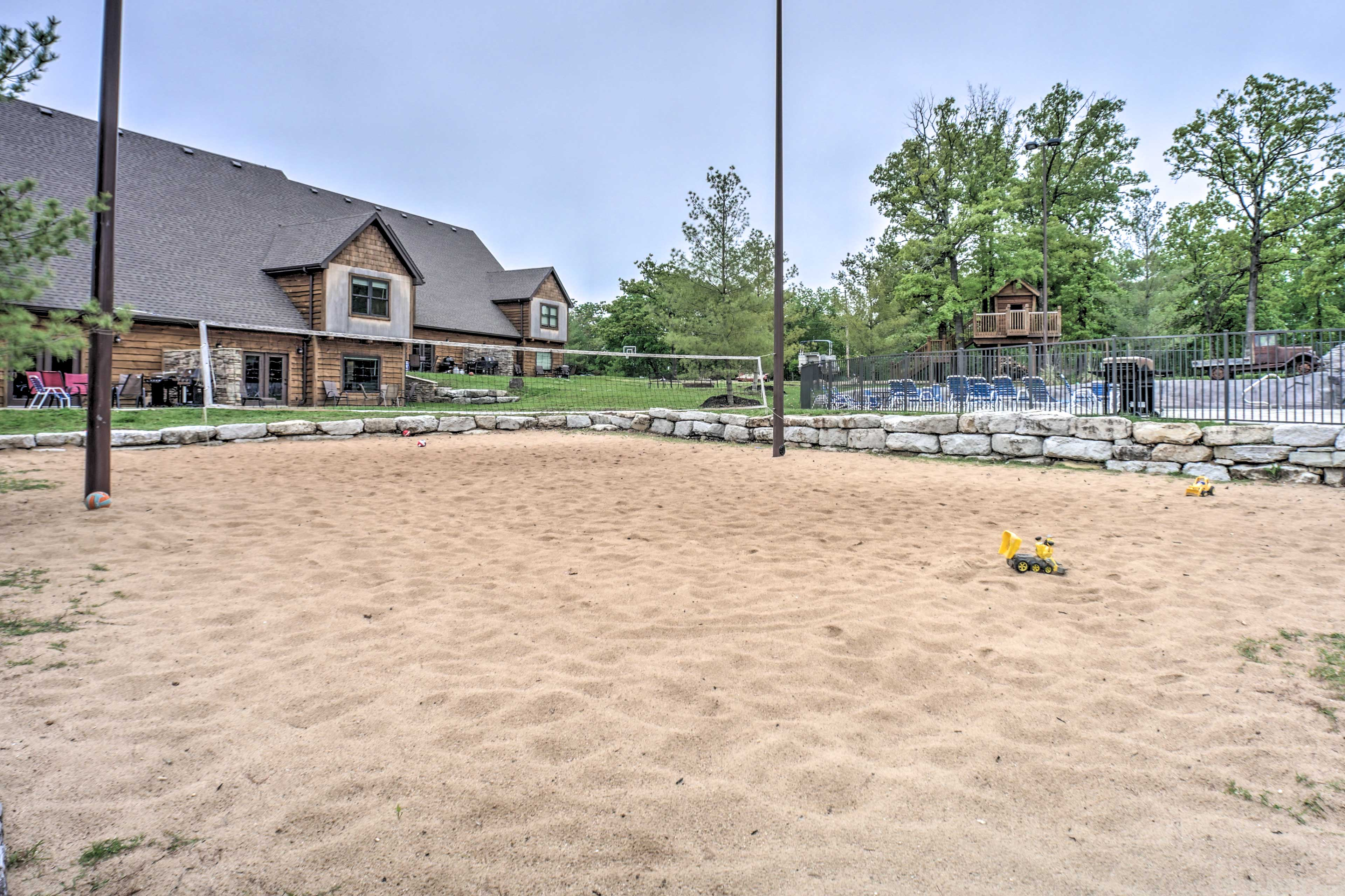 Challenge family to a game of beach volleyball!