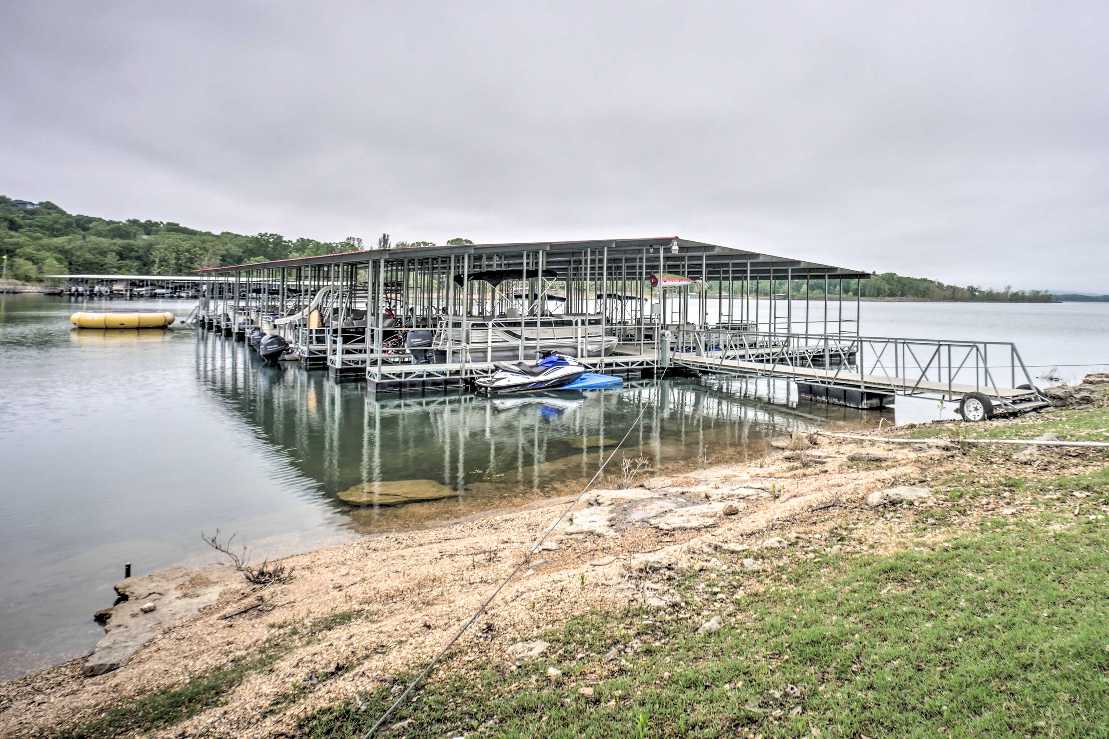 This condo has a pontoon boat available for guest use!
