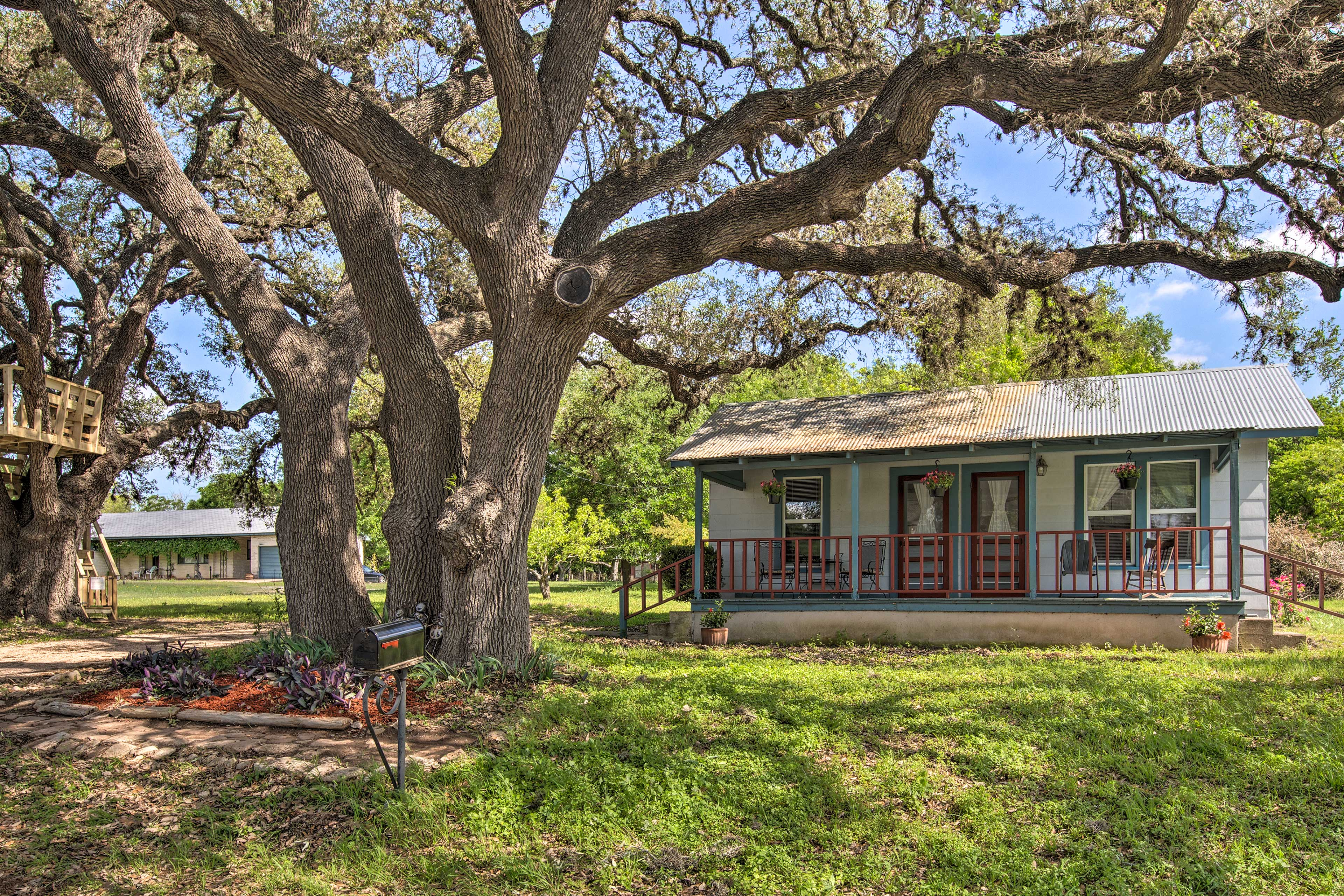 This home lies within walking distance of Blanco State Park and restaurants!