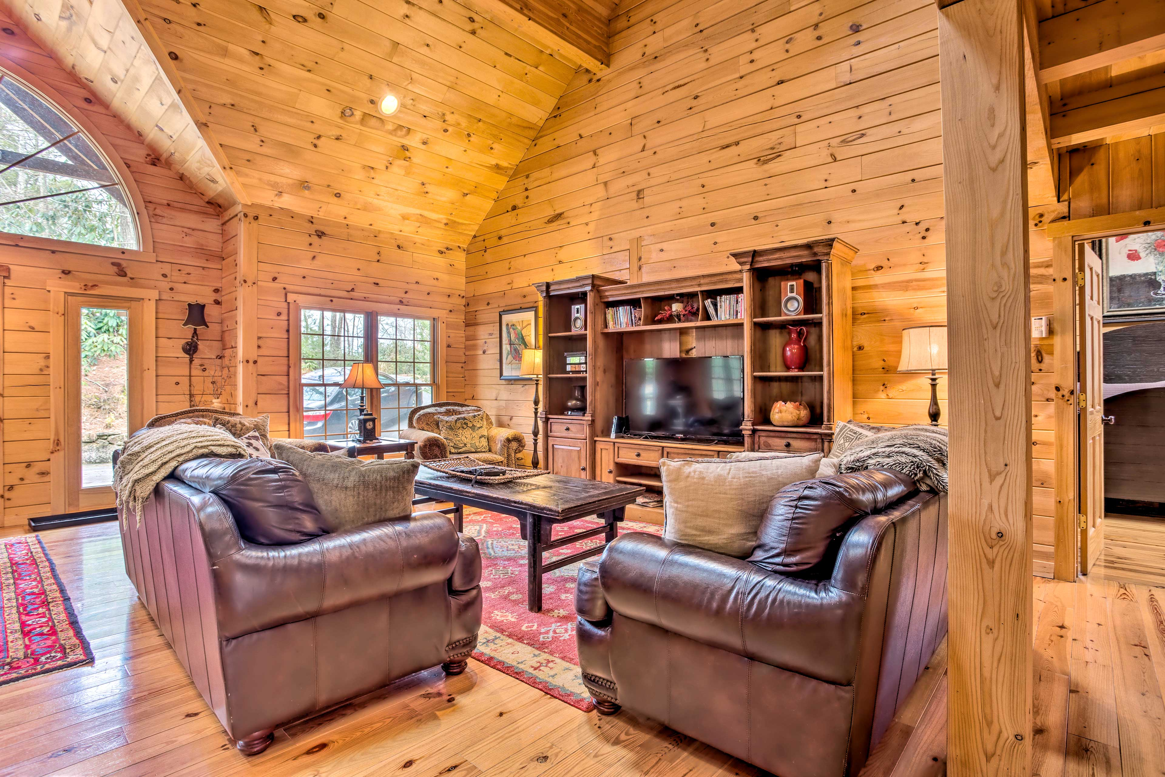 The spacious layout makes it easy for family and friends to socialize.