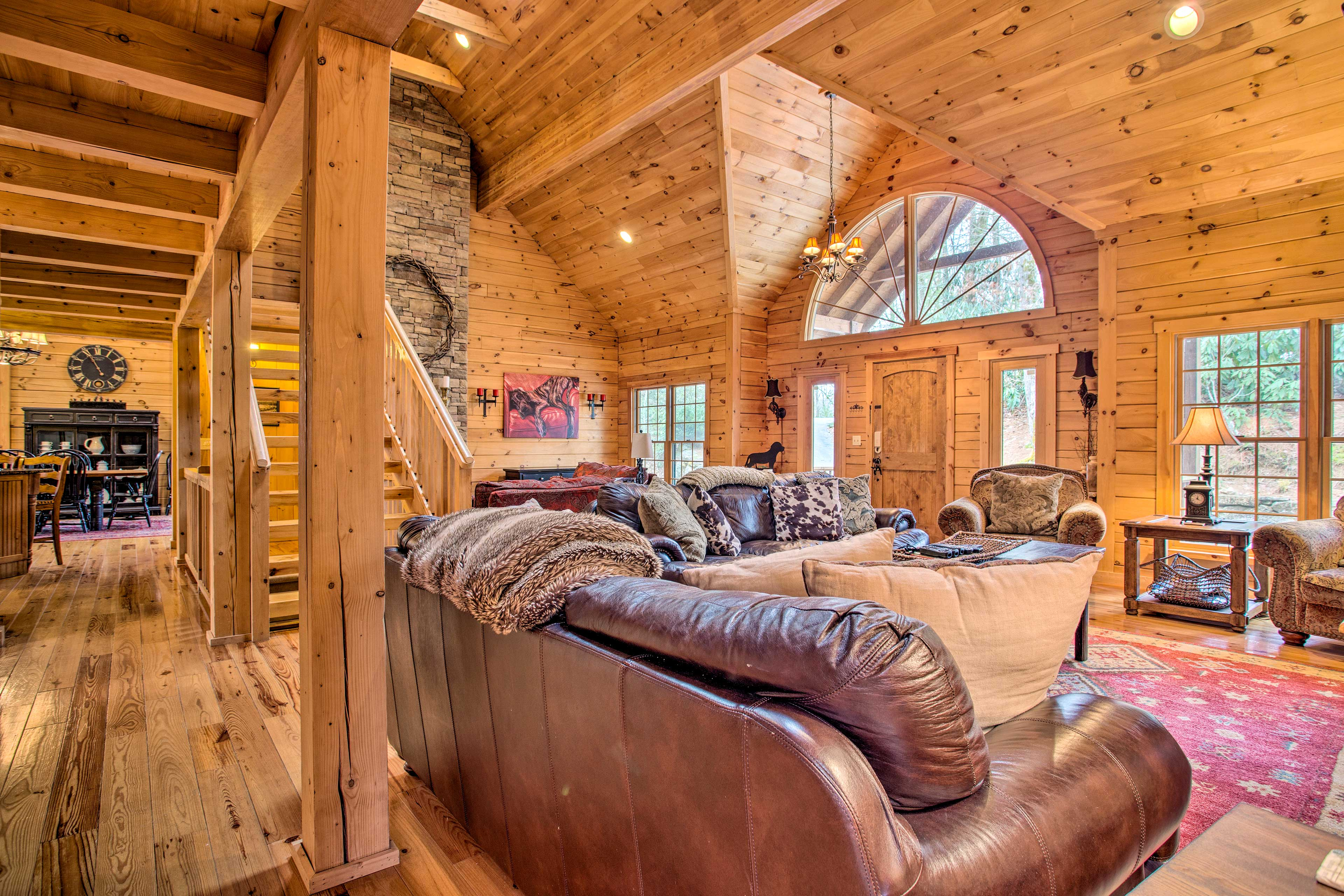 Natural light illuminates the open-concept living area.