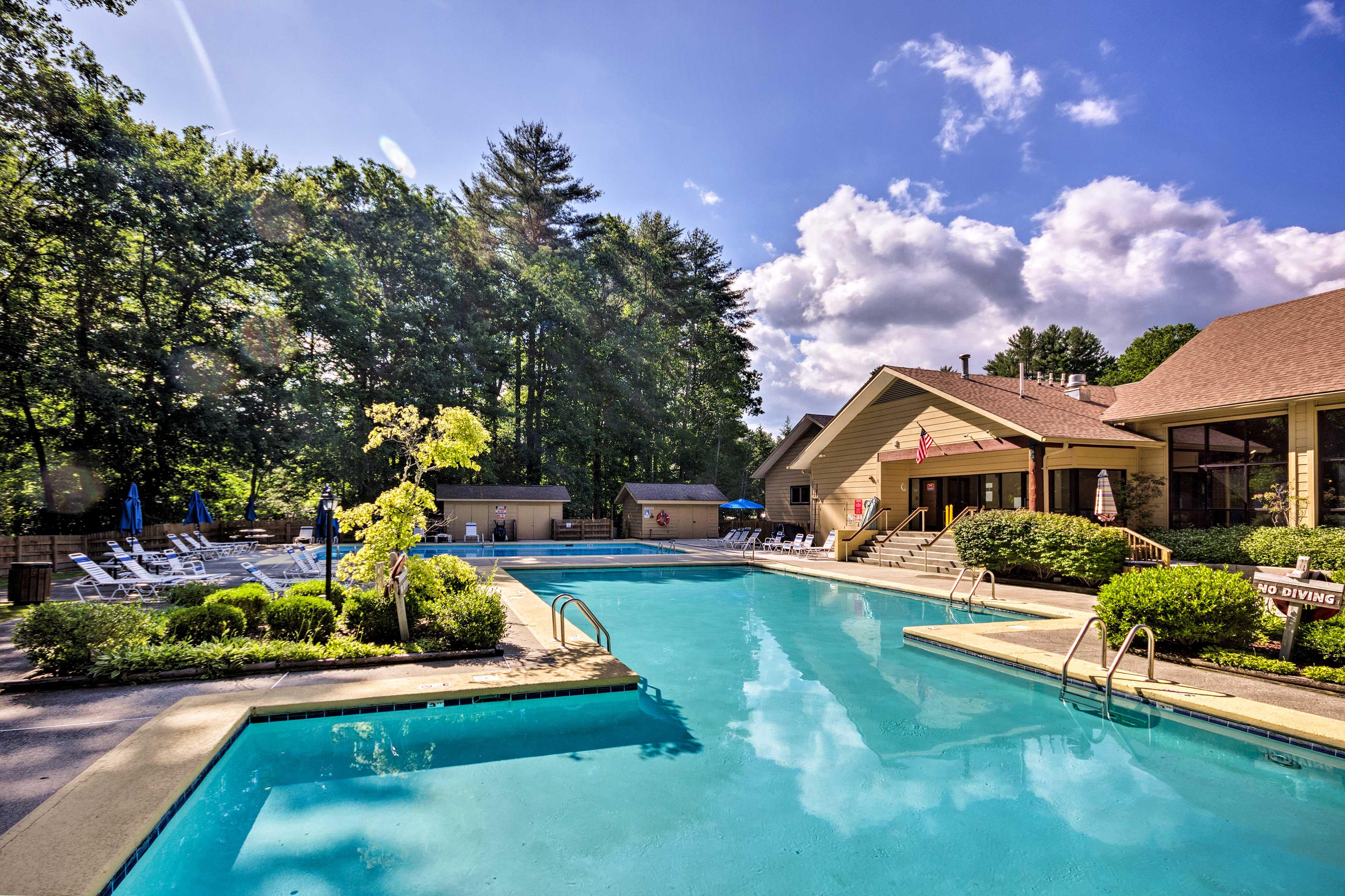 Kids will love splashing around in the pool!