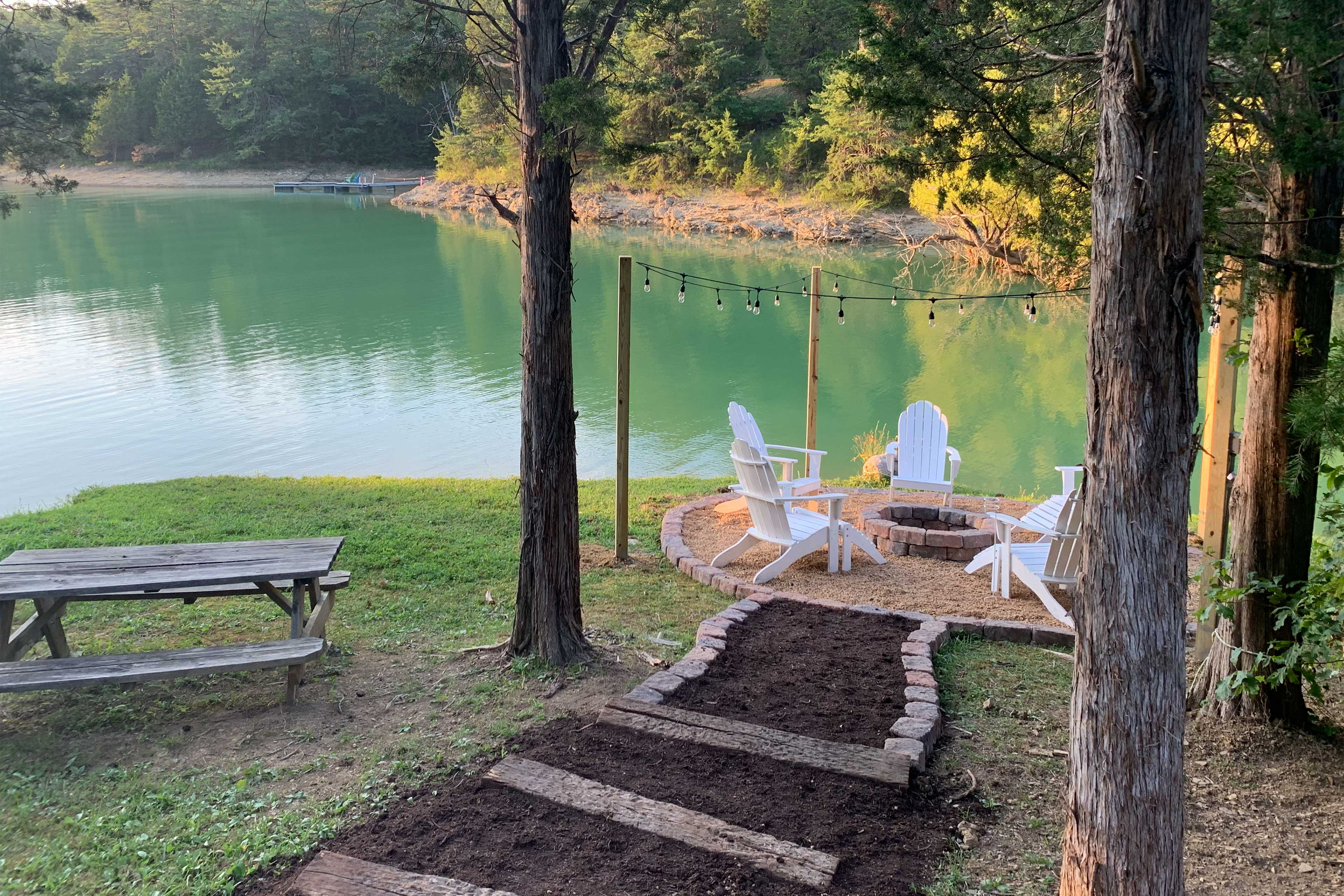 Enjoy sunny days on the lake right behind this Sevierville vacation rental.