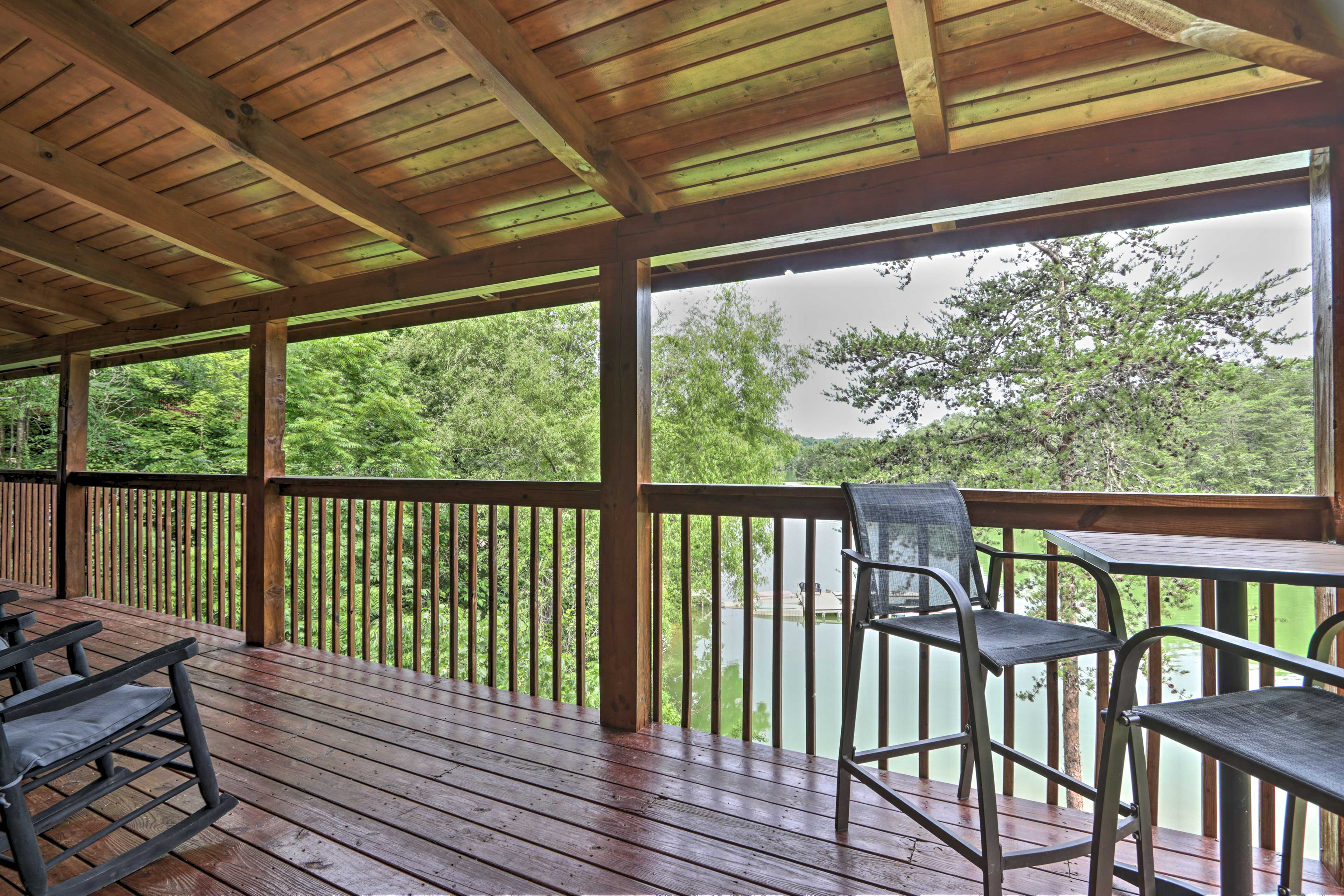 Grab a cup of coffee and relax on the deck.