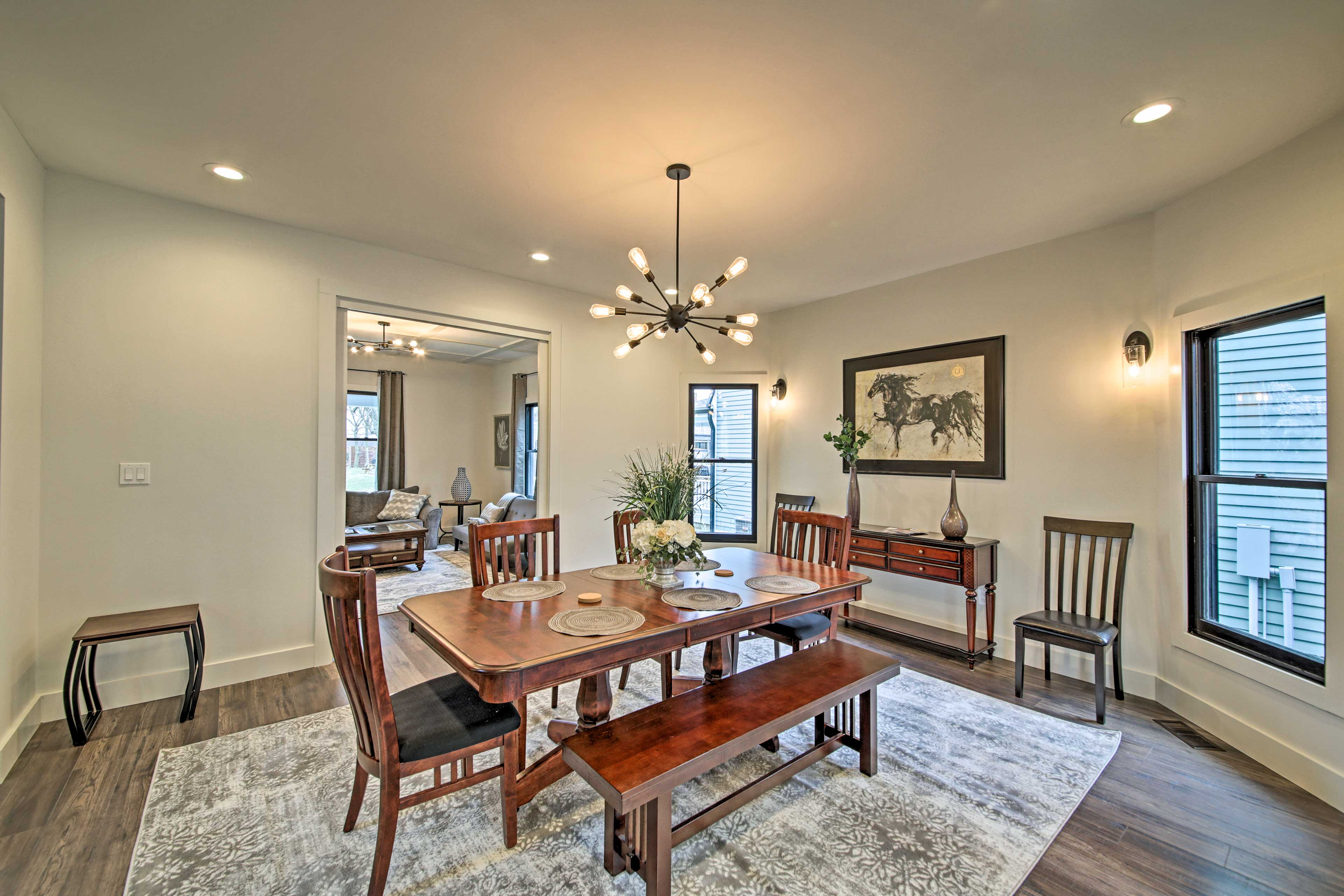 The dining room is perfect for entertaining.