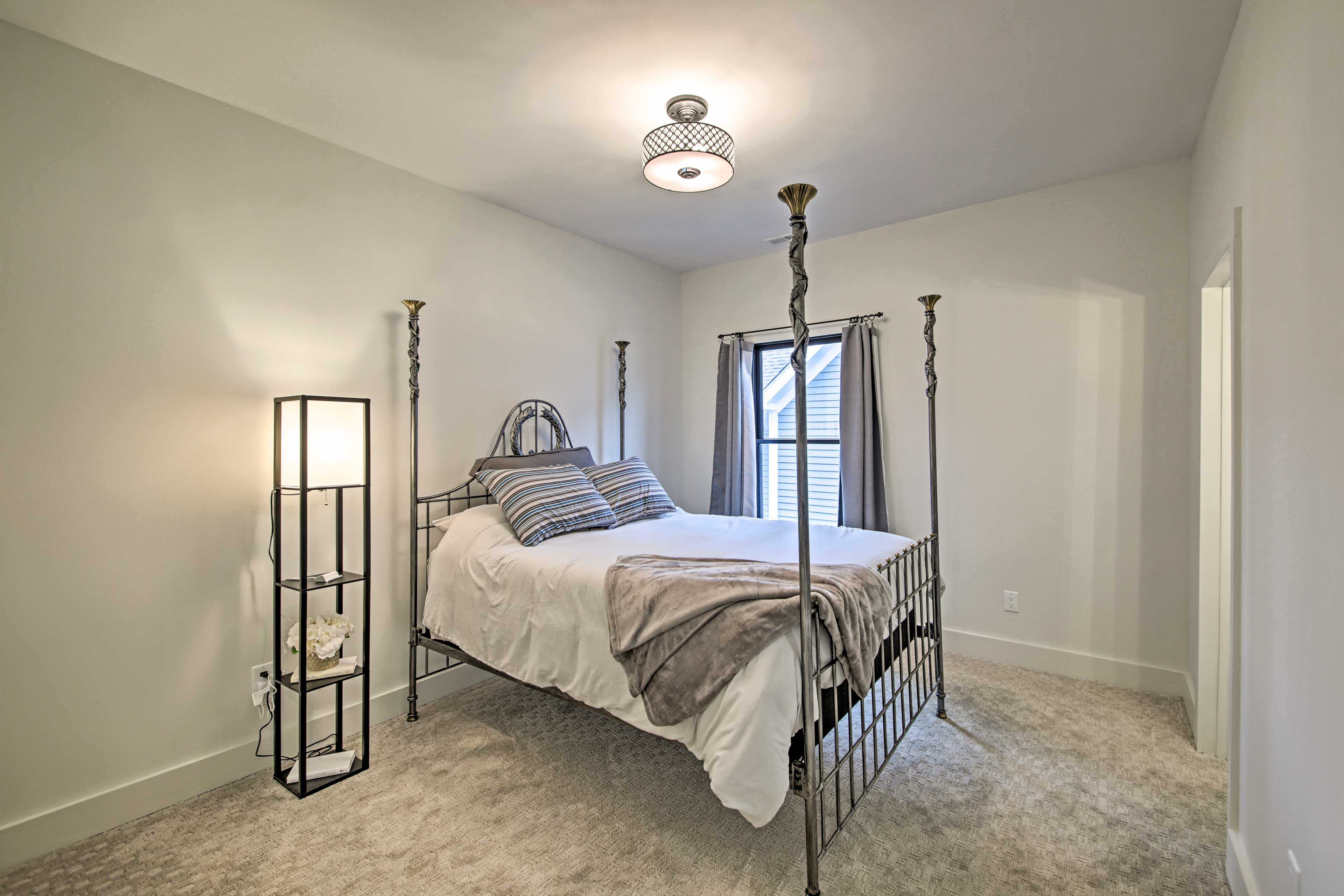 The third bedroom features a queen bed.