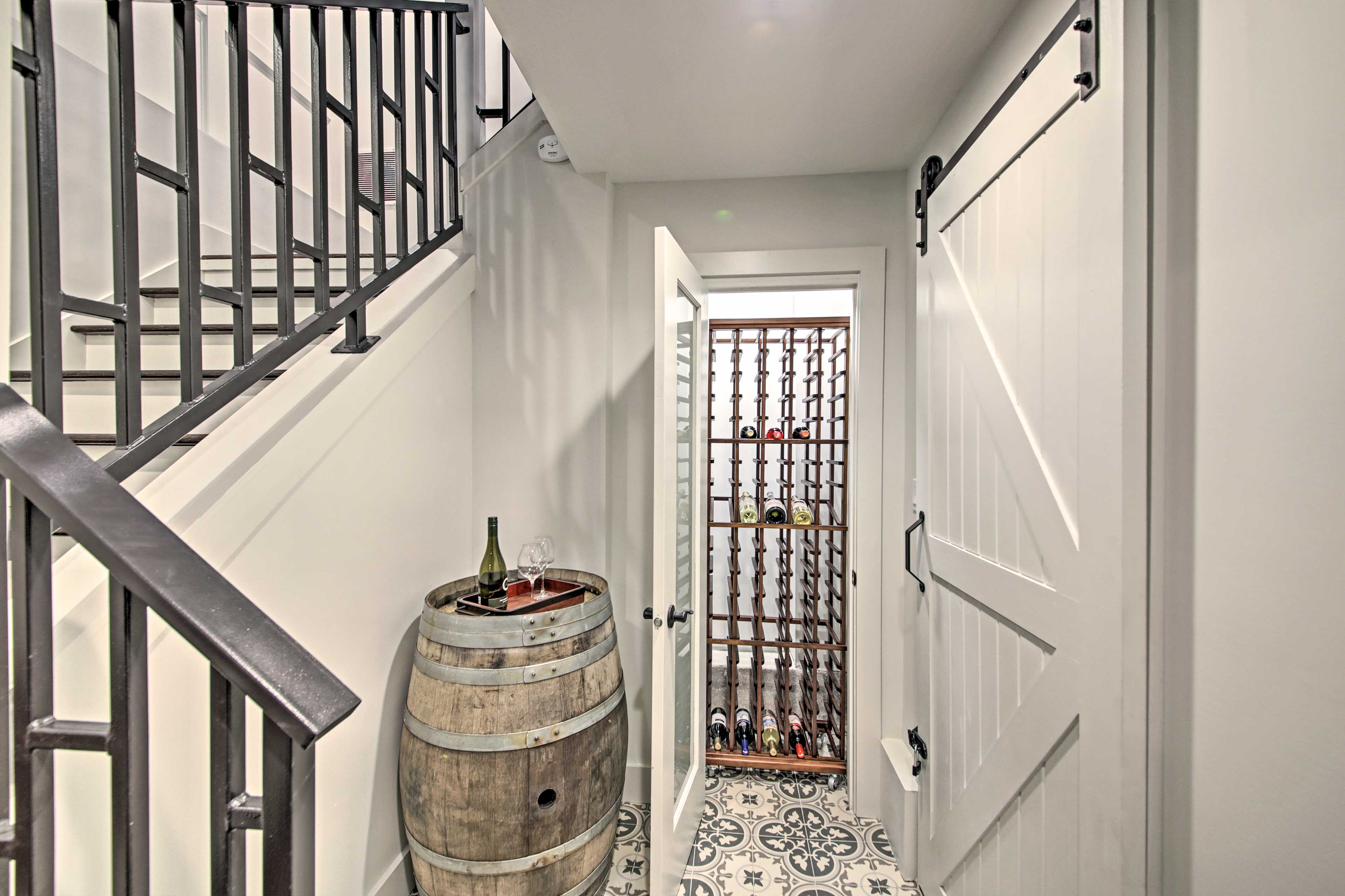 Store your bottles in the cellar.