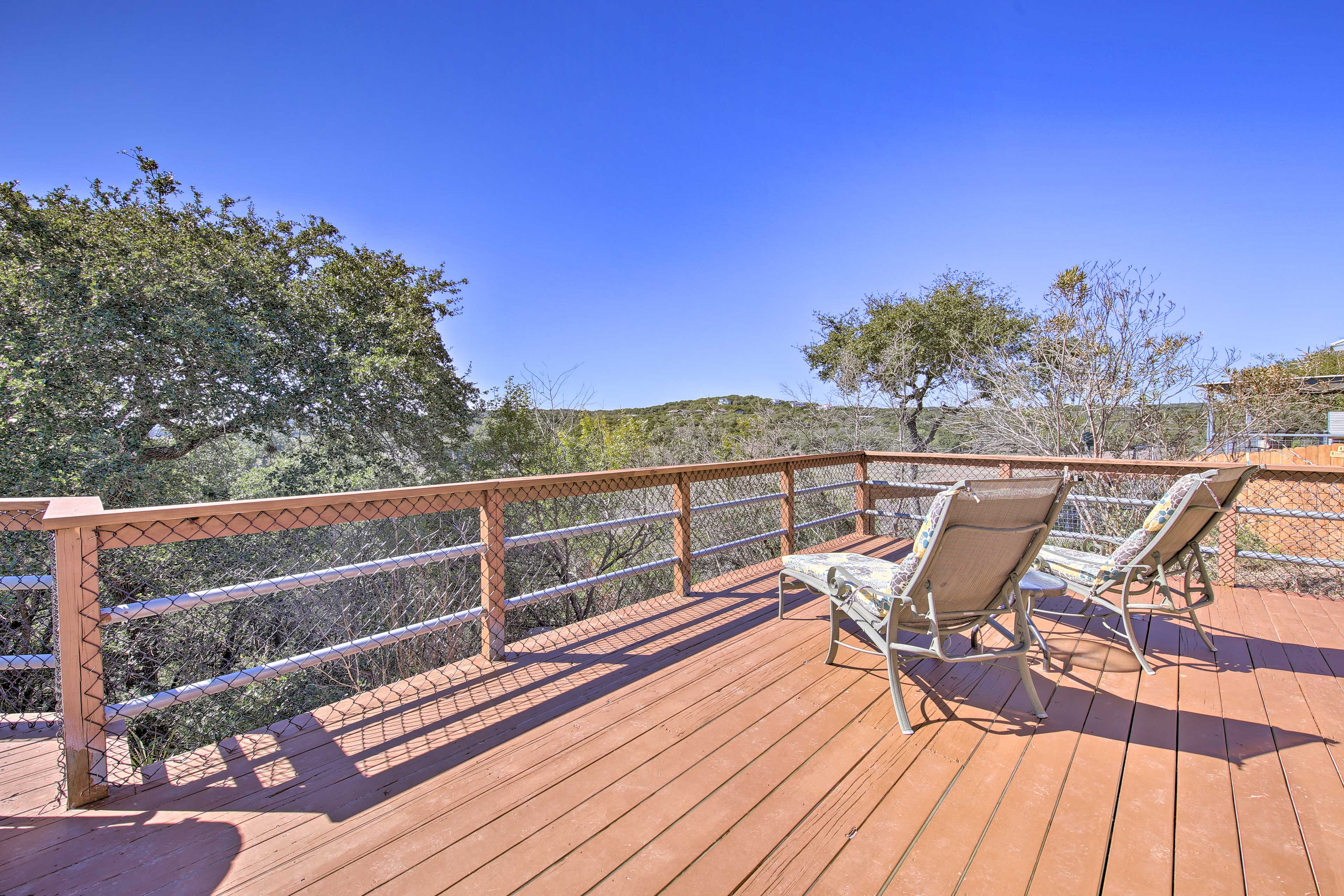 Lounge on the deck and take in the Texas sun.