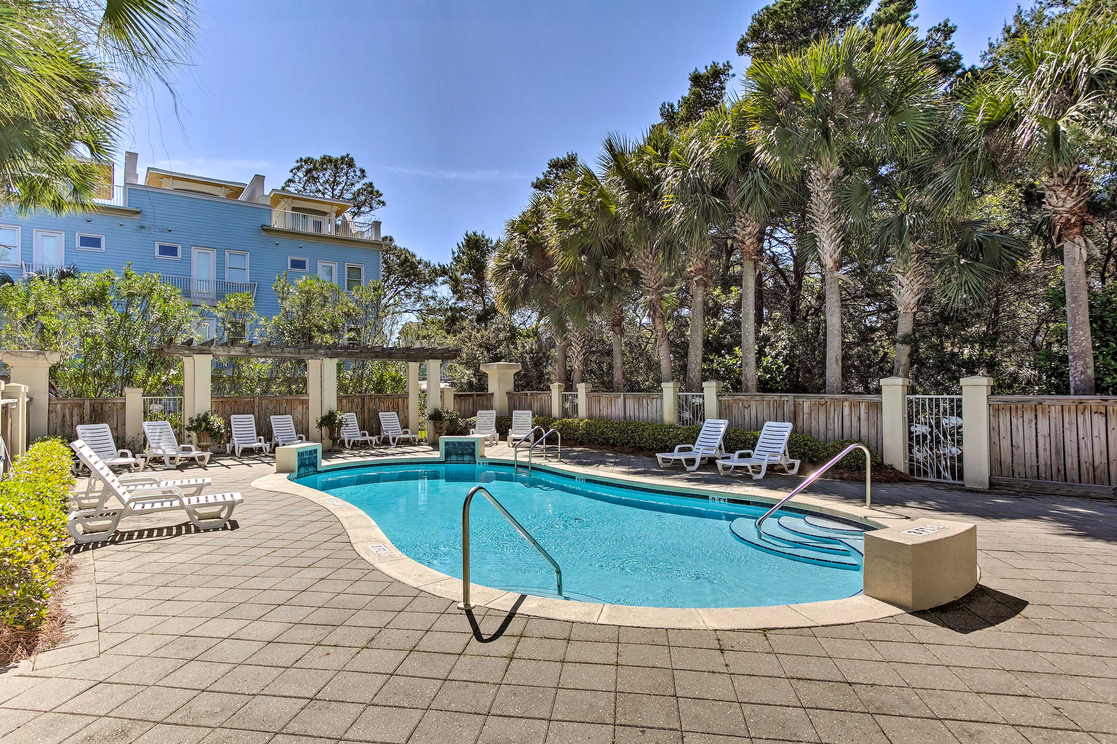 Spend an afternoon lounging by the community pool.
