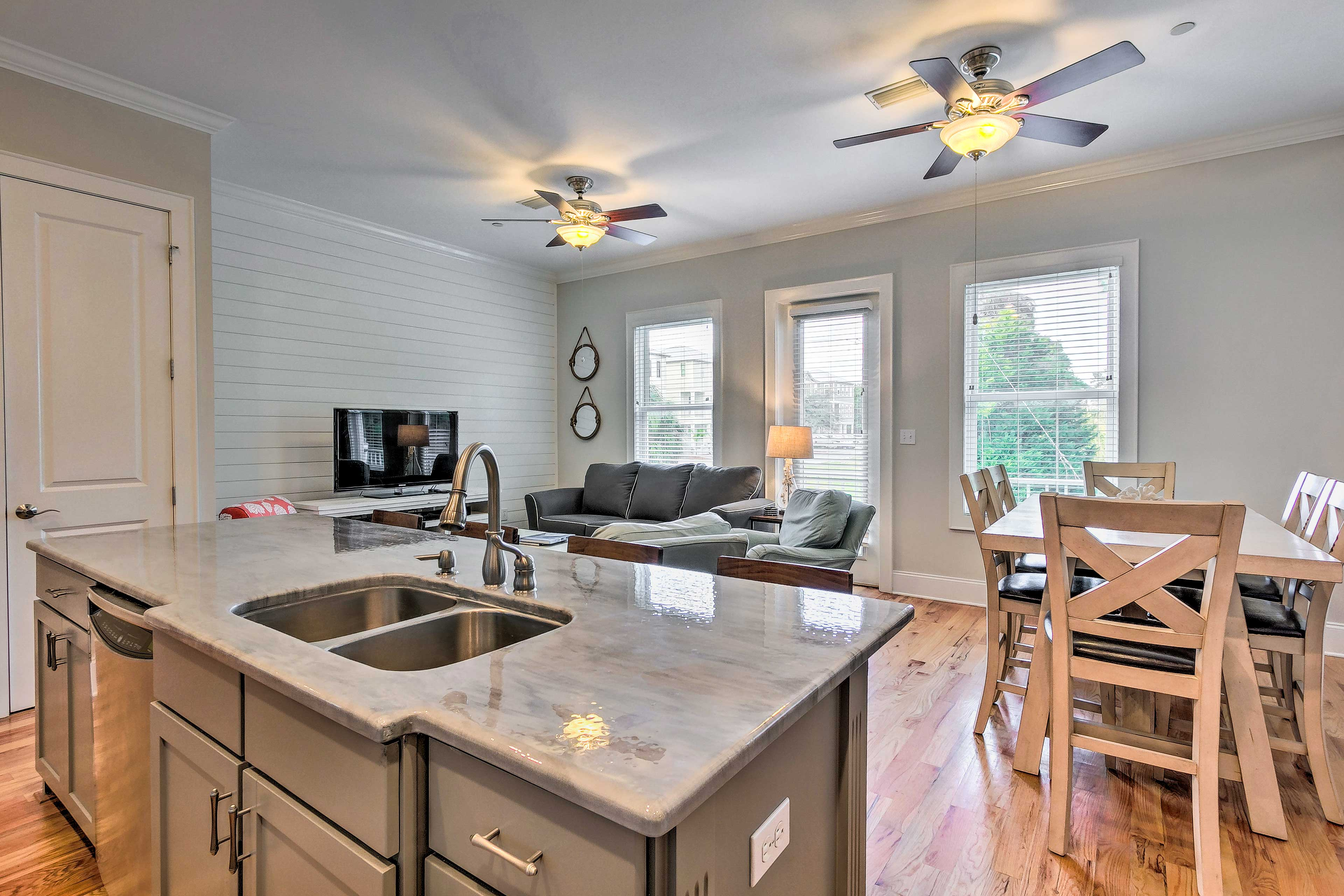 An open floor plan is ideal for keeping your crew connected.