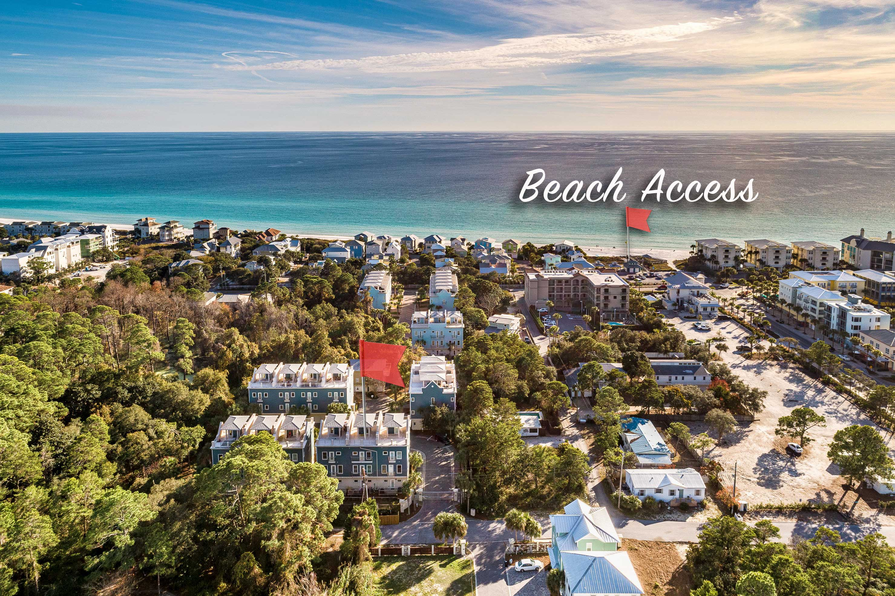 The beautiful beach is just steps away!
