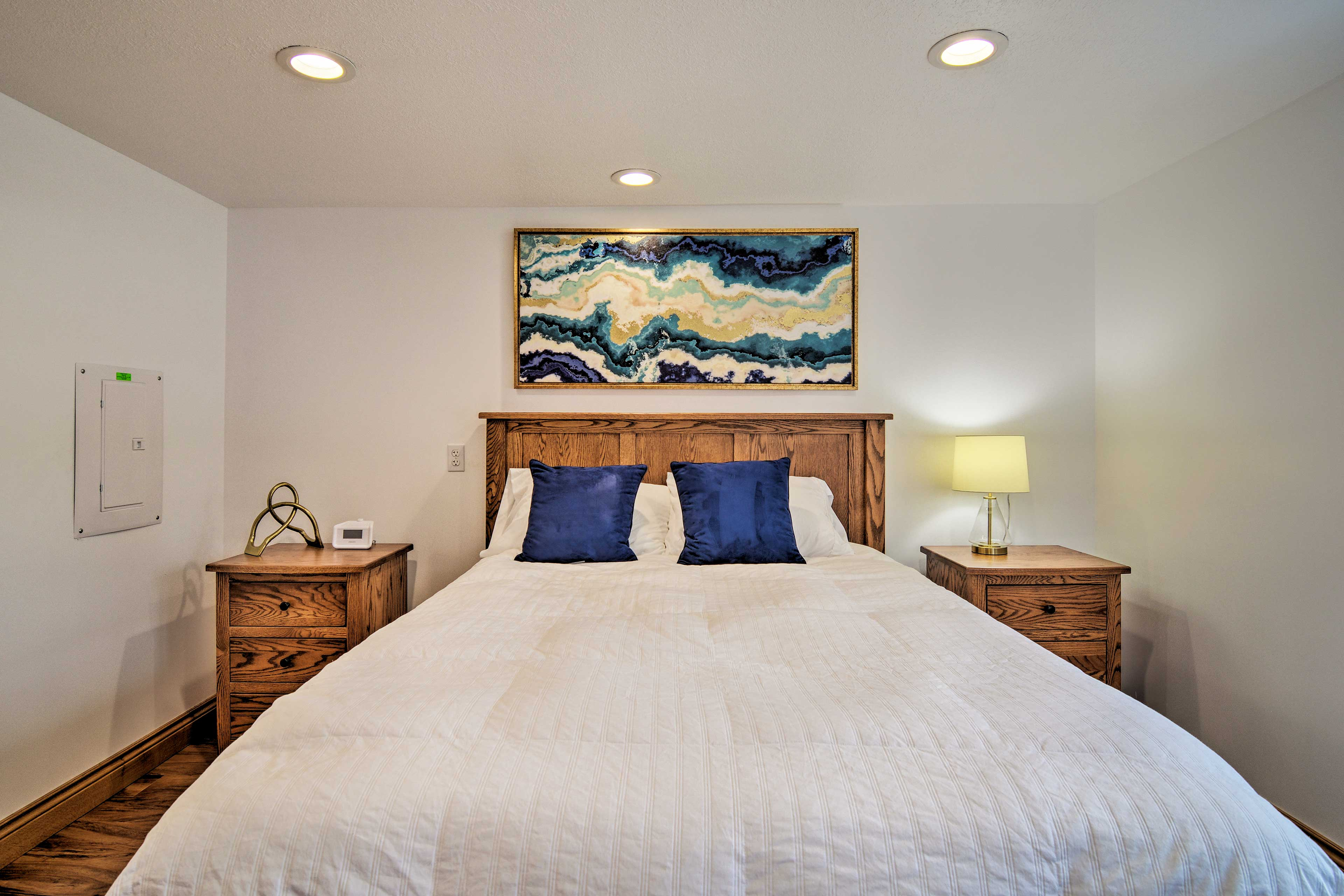 Make yourself at home in this updated master bedroom.