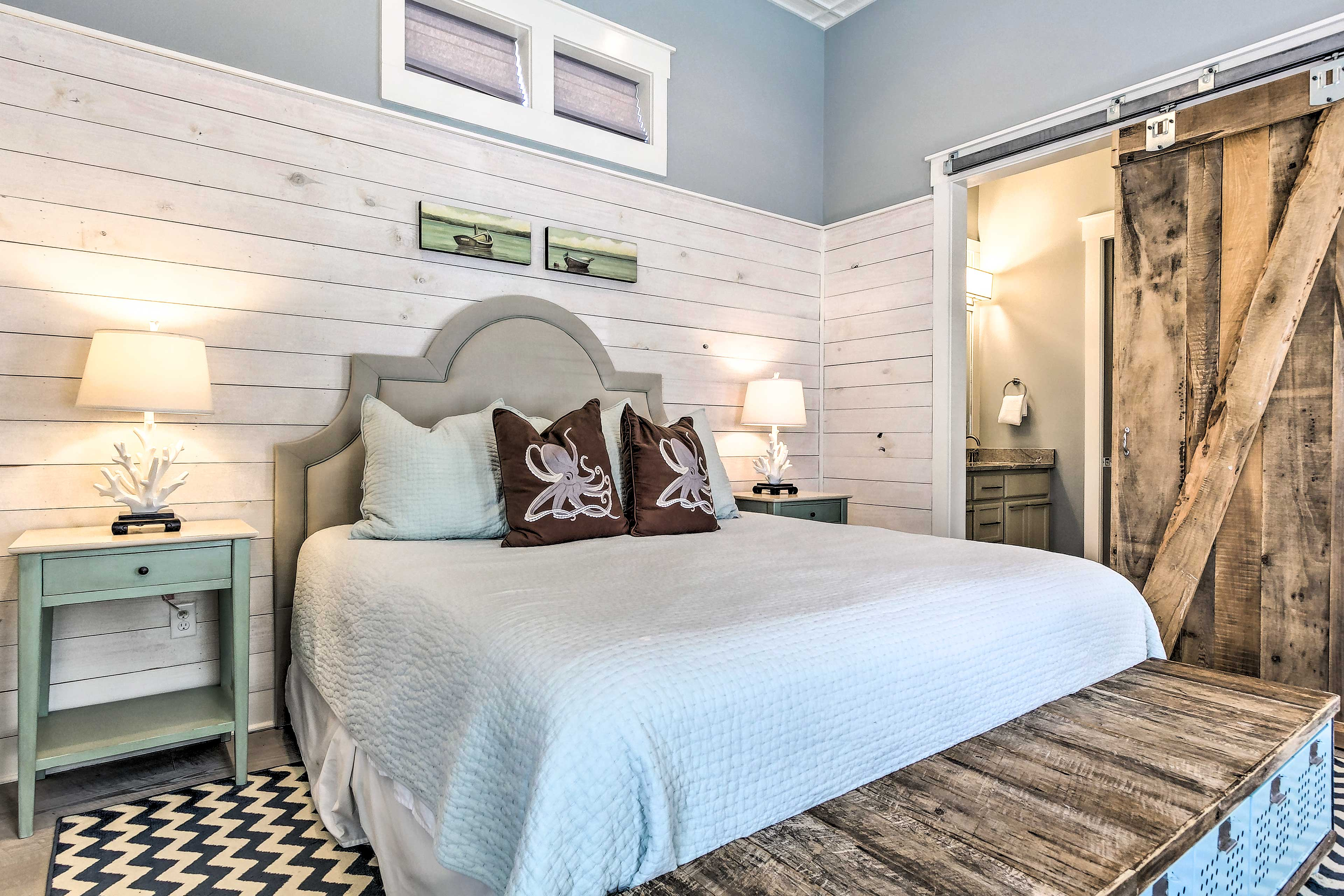 This first master bedroom is fit for the heads of the house!