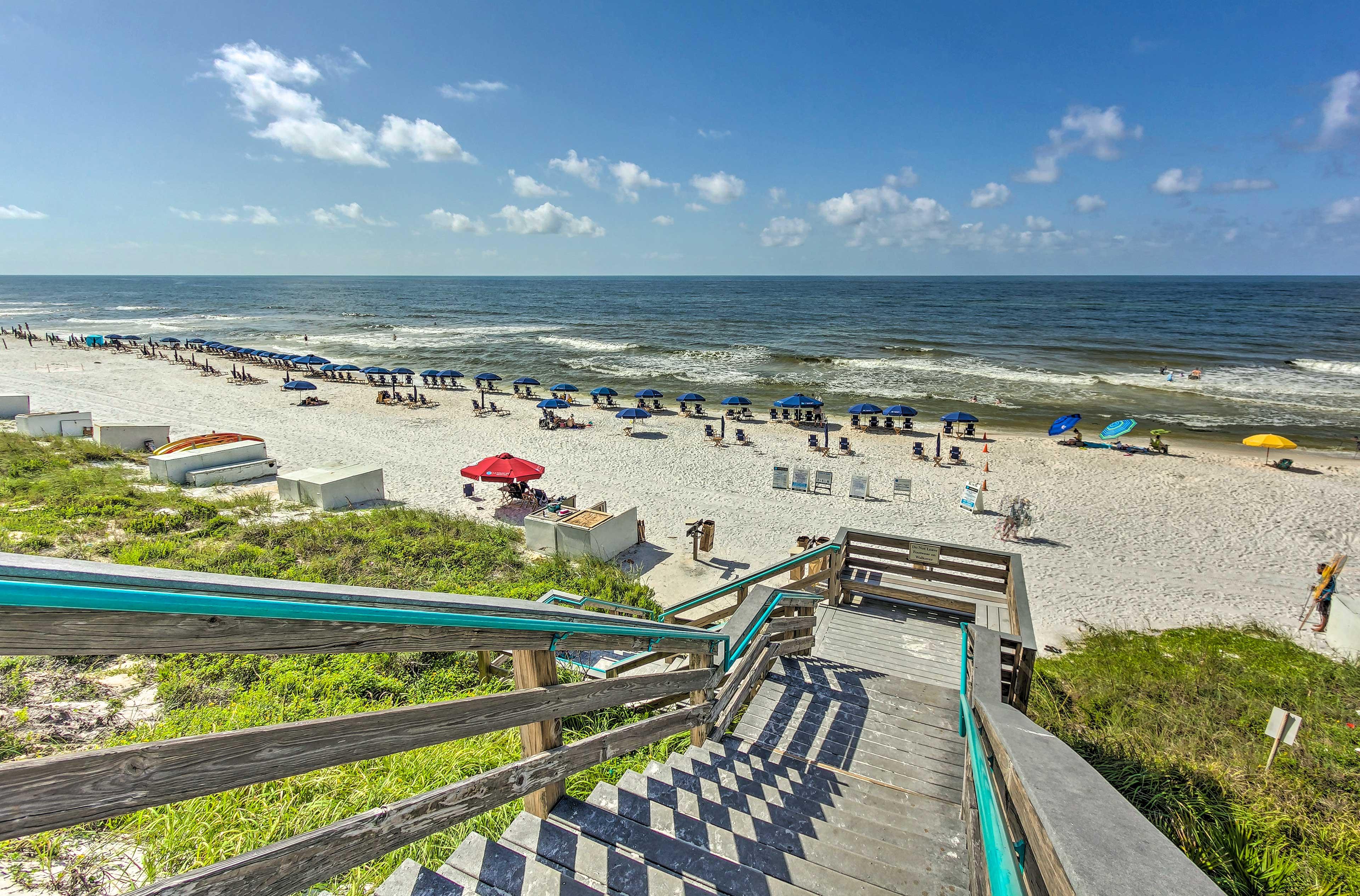 Head down to the beach - less than a mile away!