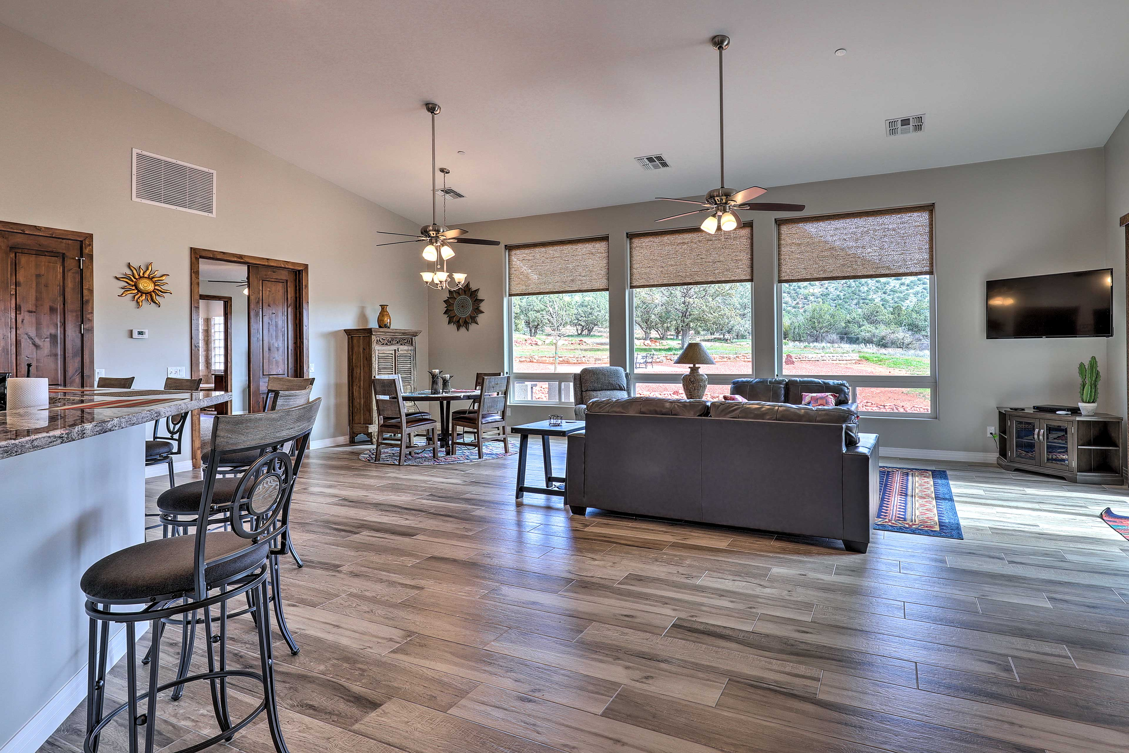 This home boasts 2,200 square feet of living space.