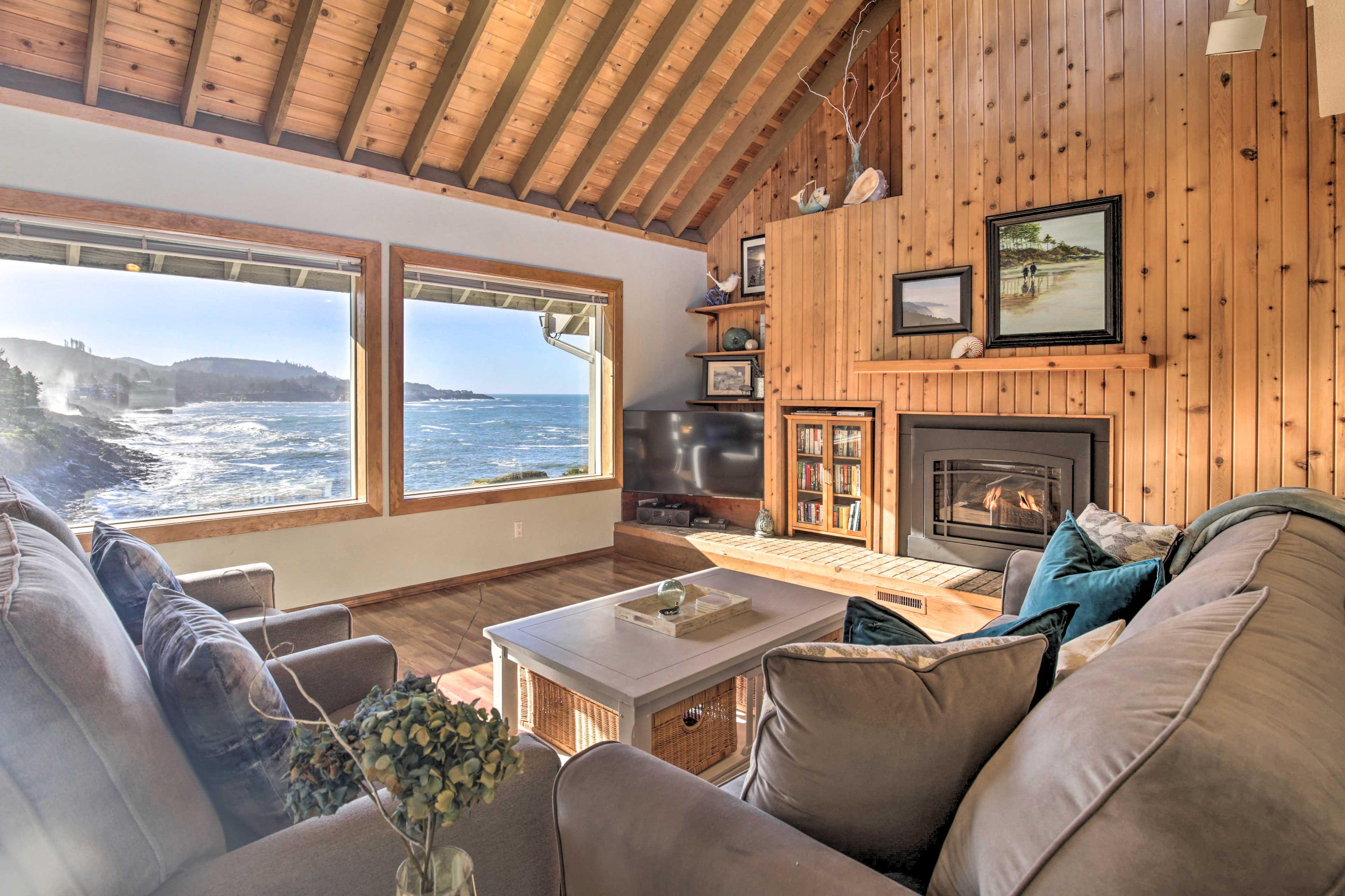 This Depoe Bay vacation rental condo boasts breathtaking views!