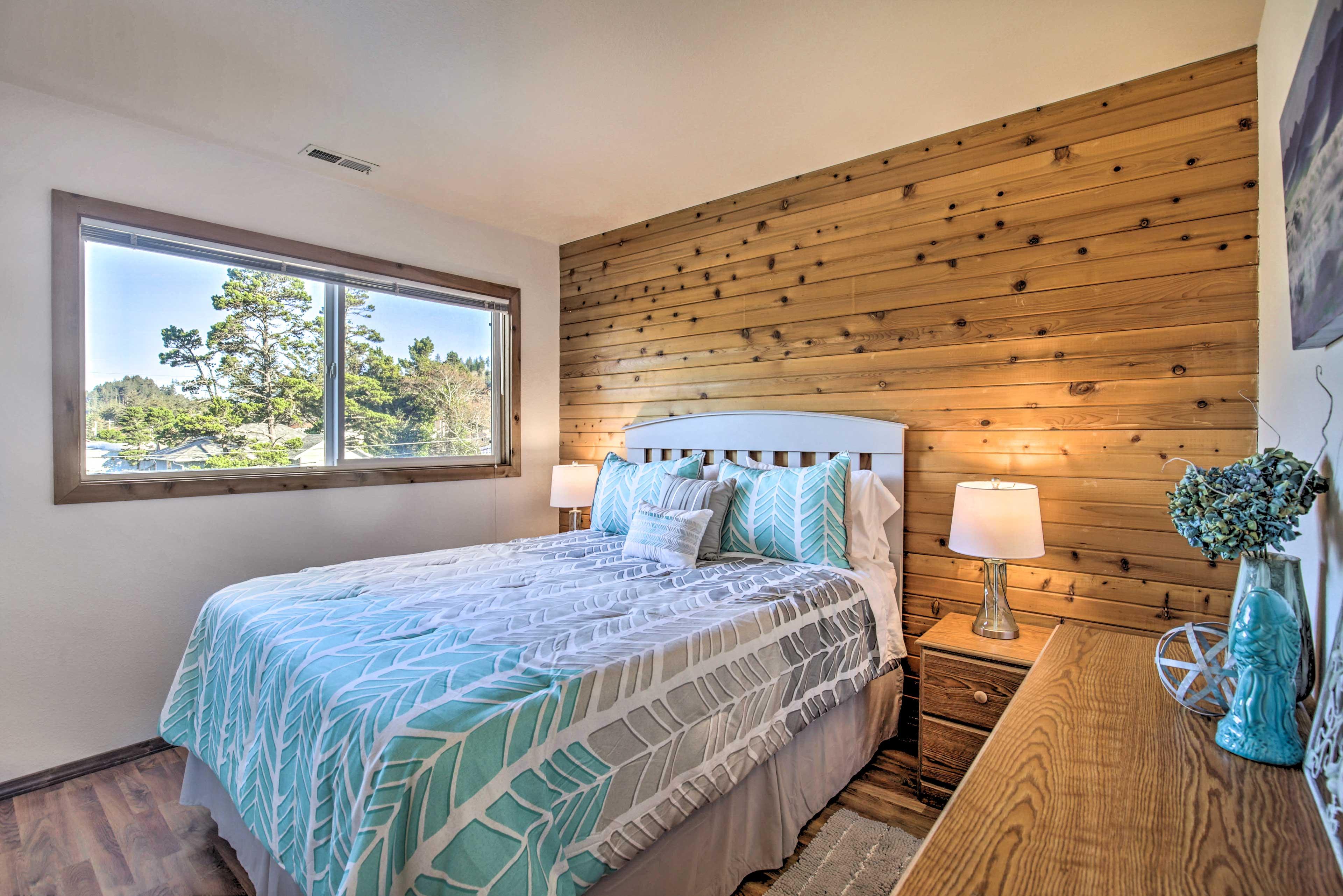 This second bedroom features queen beds.