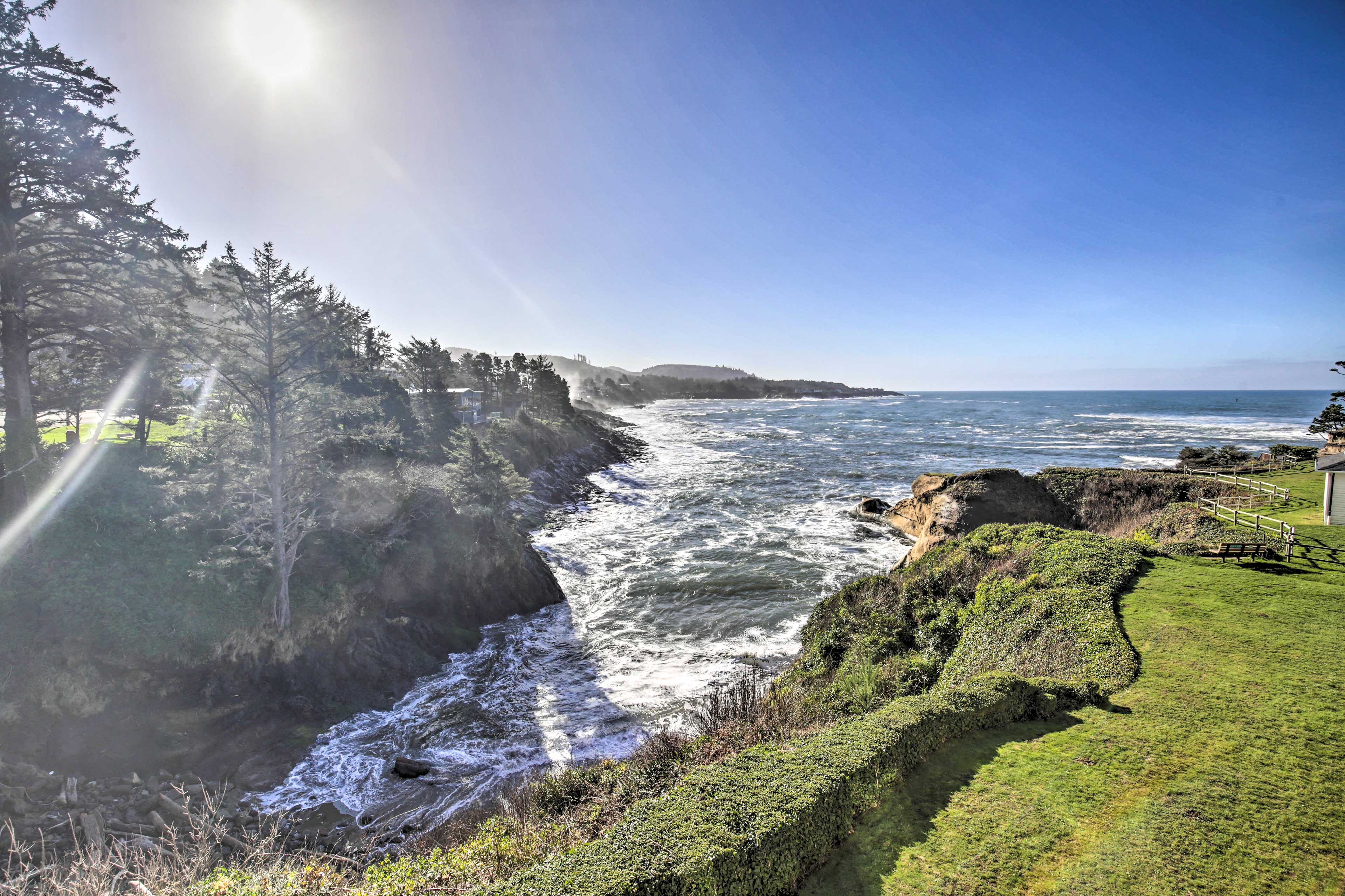Gorgeous views of Depoe Bay await you at this vacation rental.