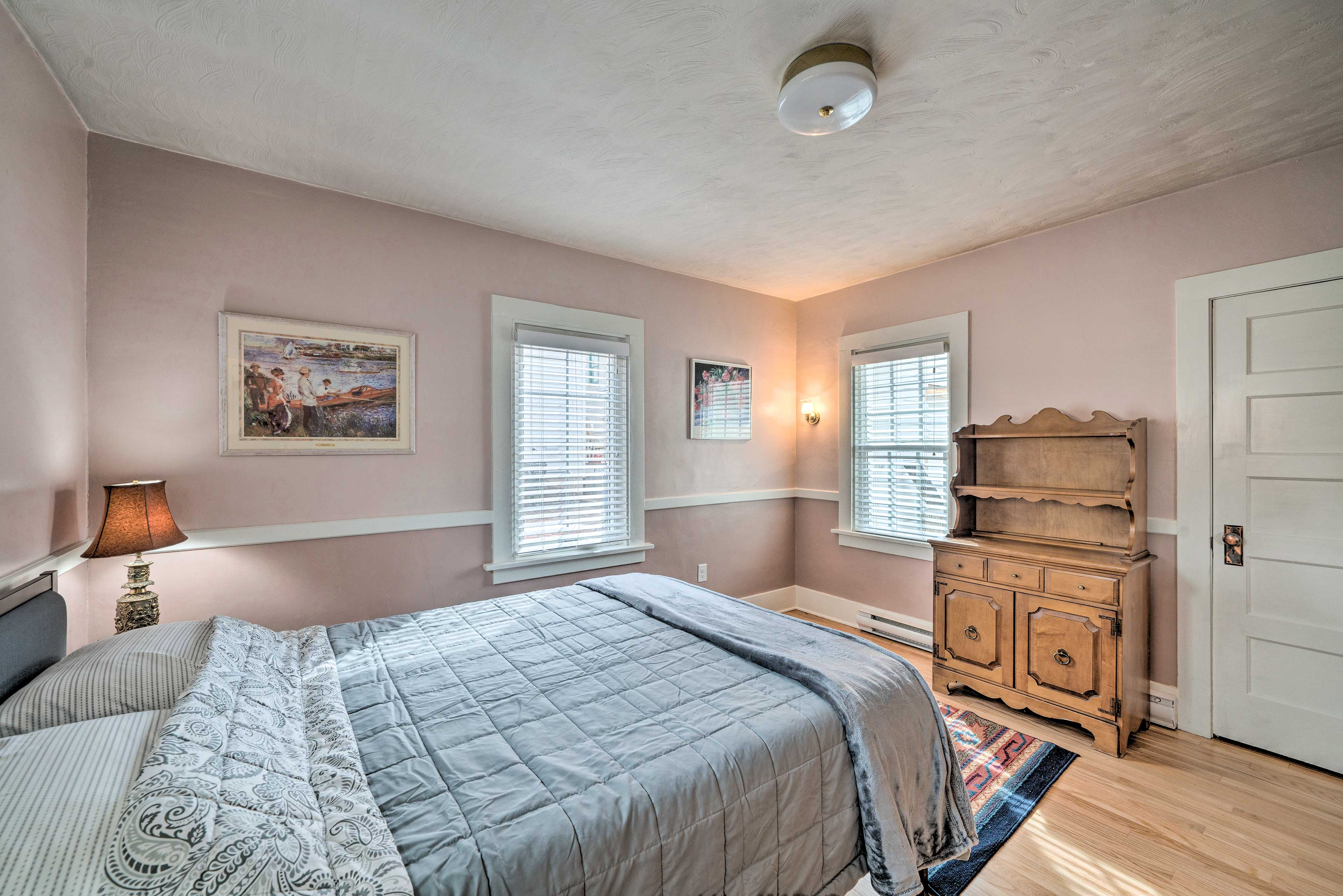 This peaceful bedroom invites you to relax and rejuvenate when the day is over.