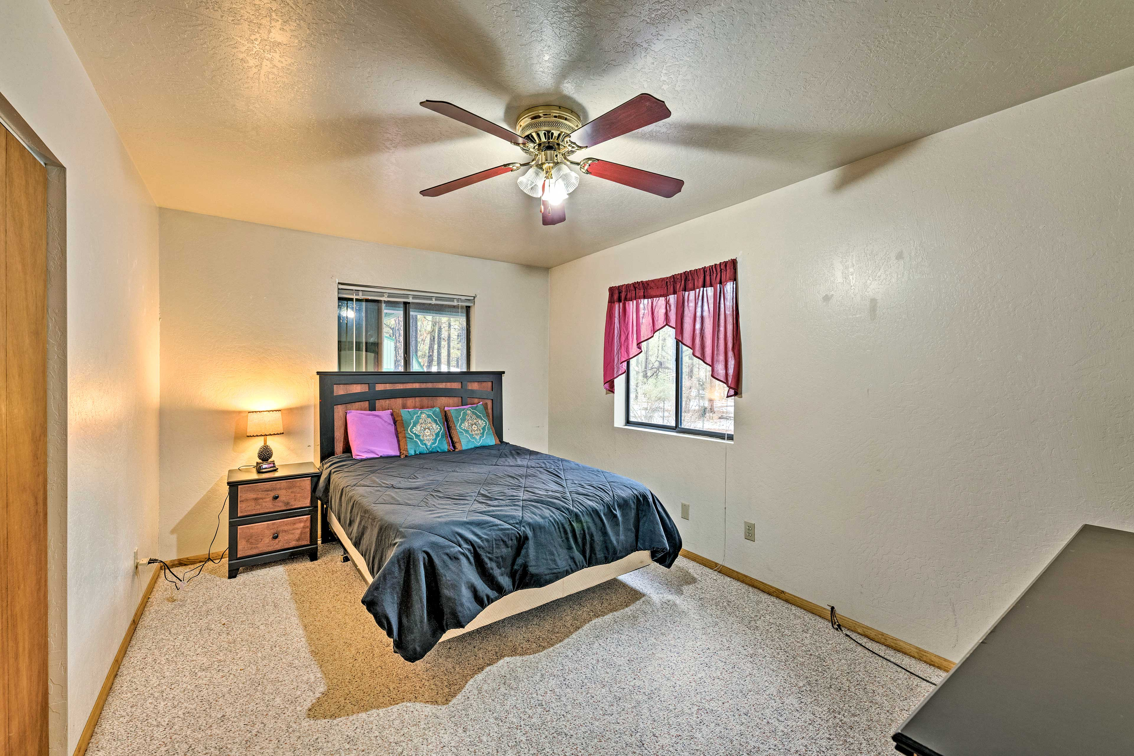 Keep cool at night under the ceiling fans.