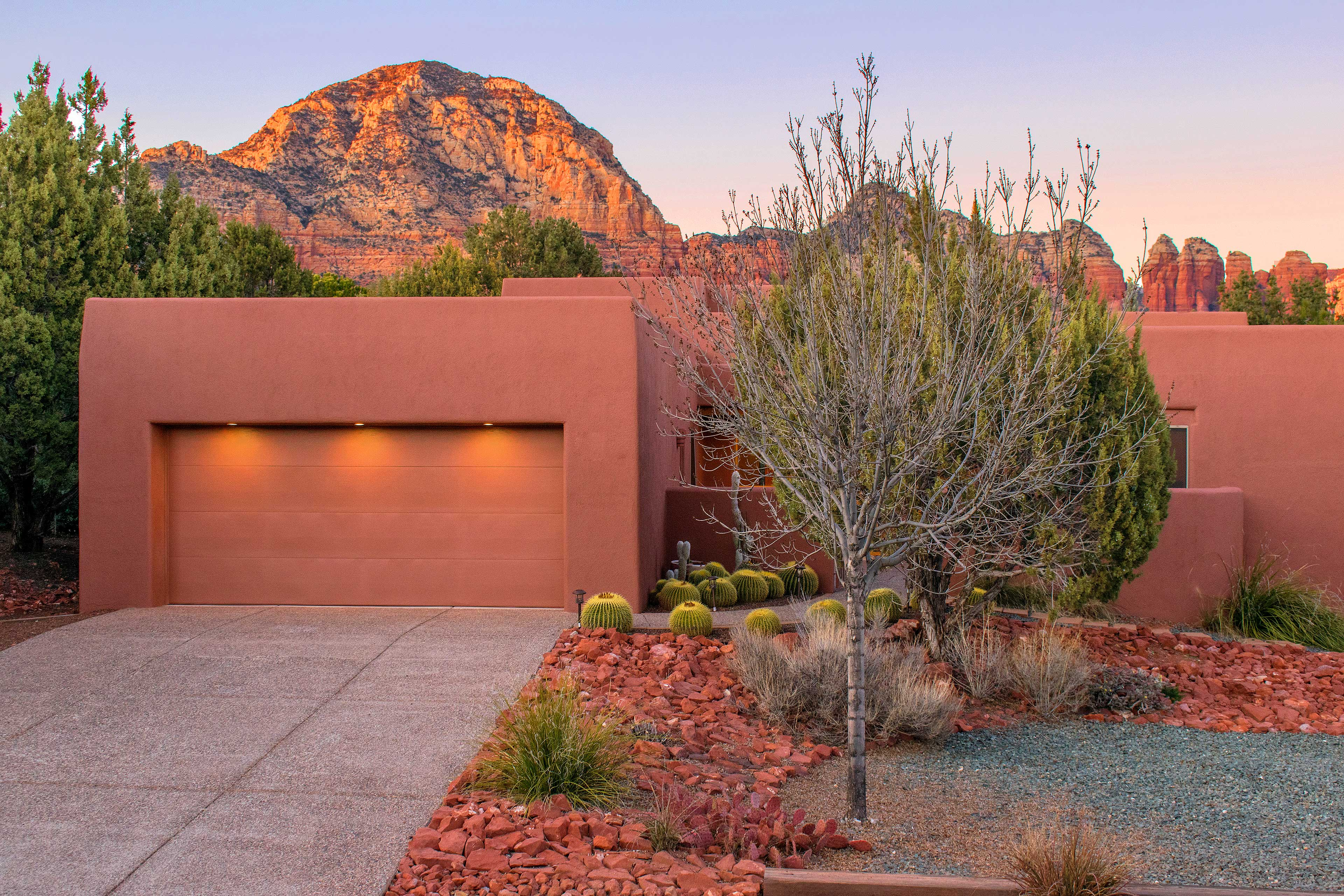 Follow the cacti to the front door of your Sedona home-away-from-home!