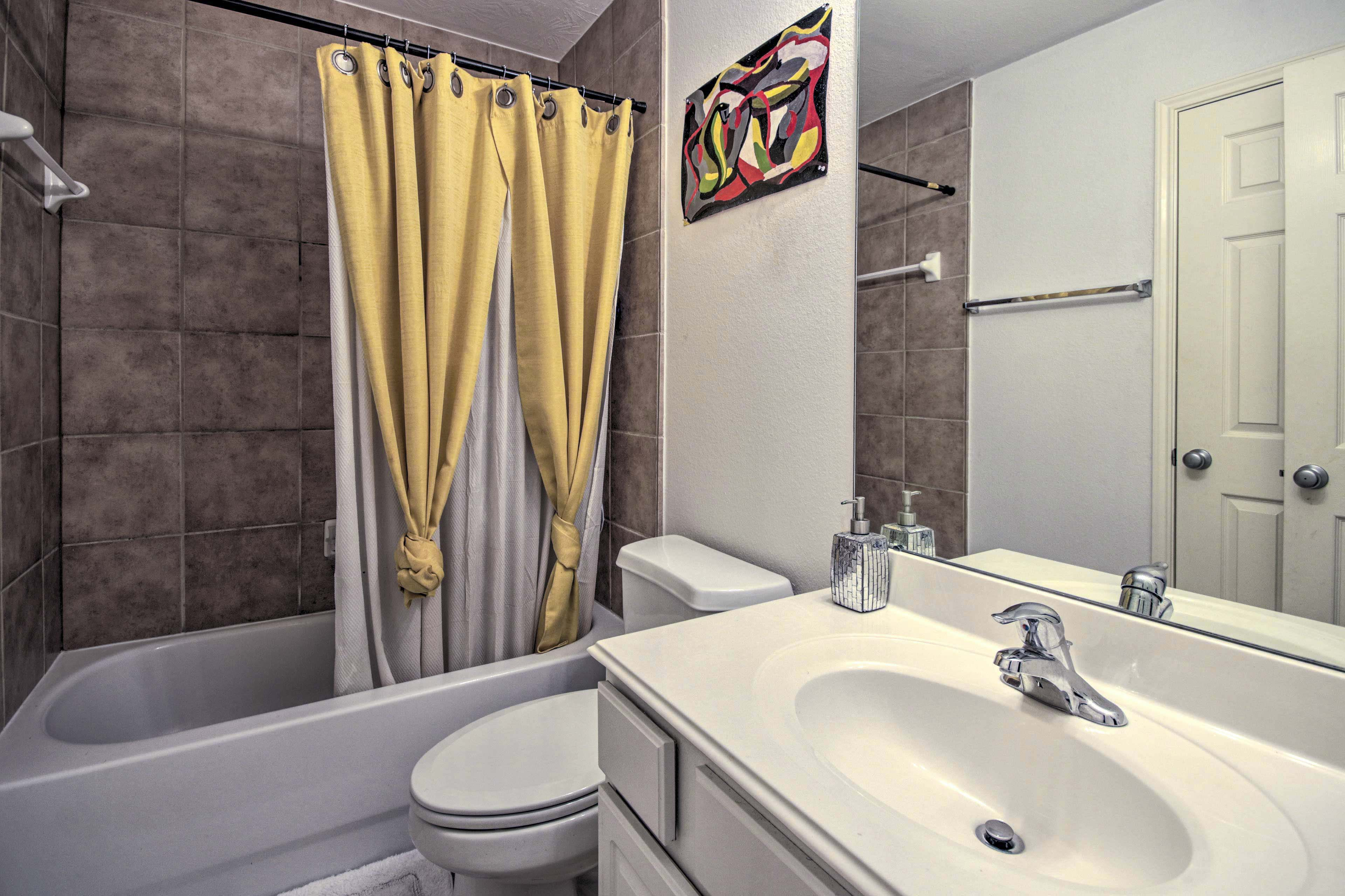 The second full bathroom features a shower/tub combo.