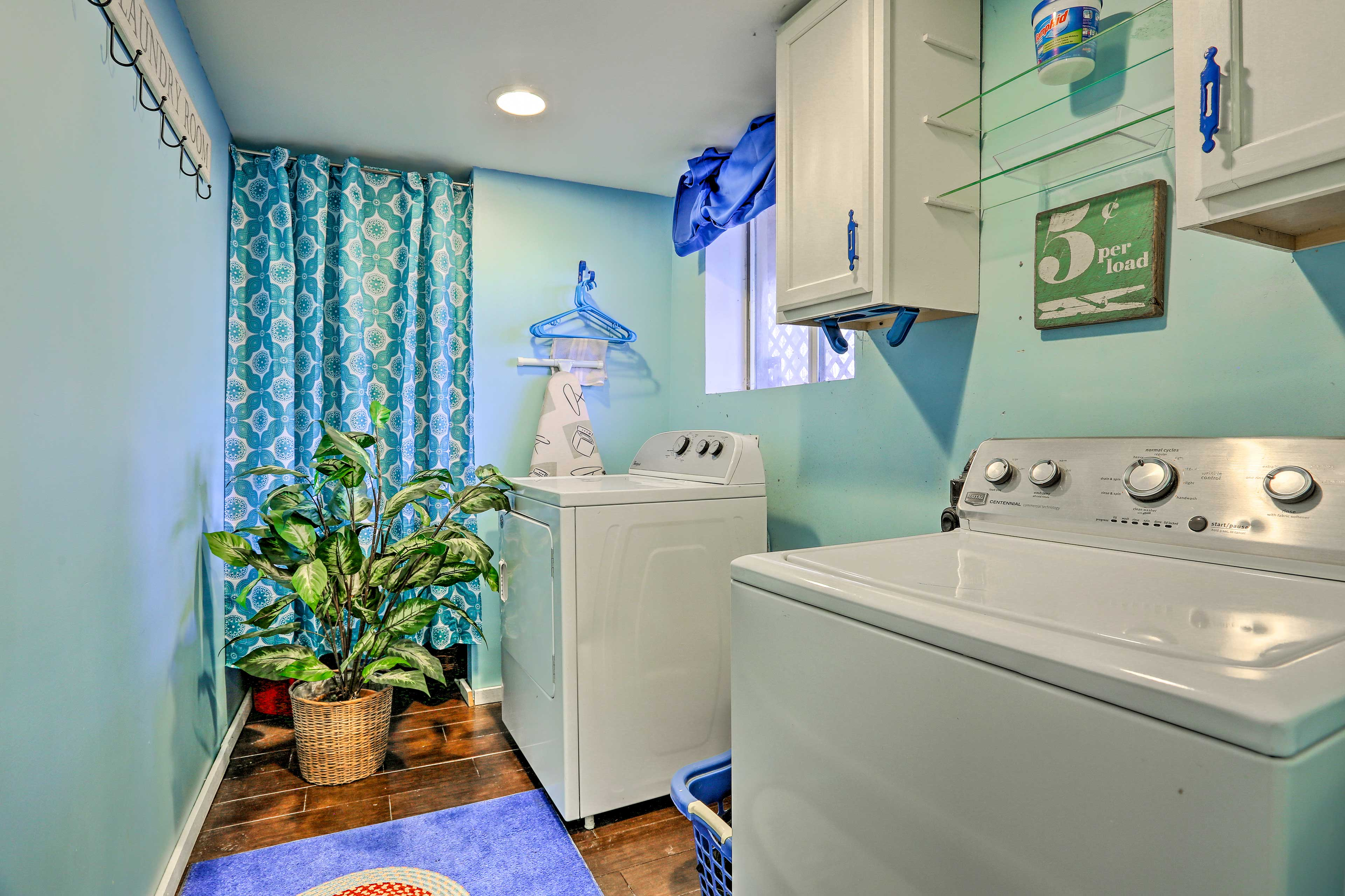 Keep your belongings fresh with the vacation rental's laundry machines.