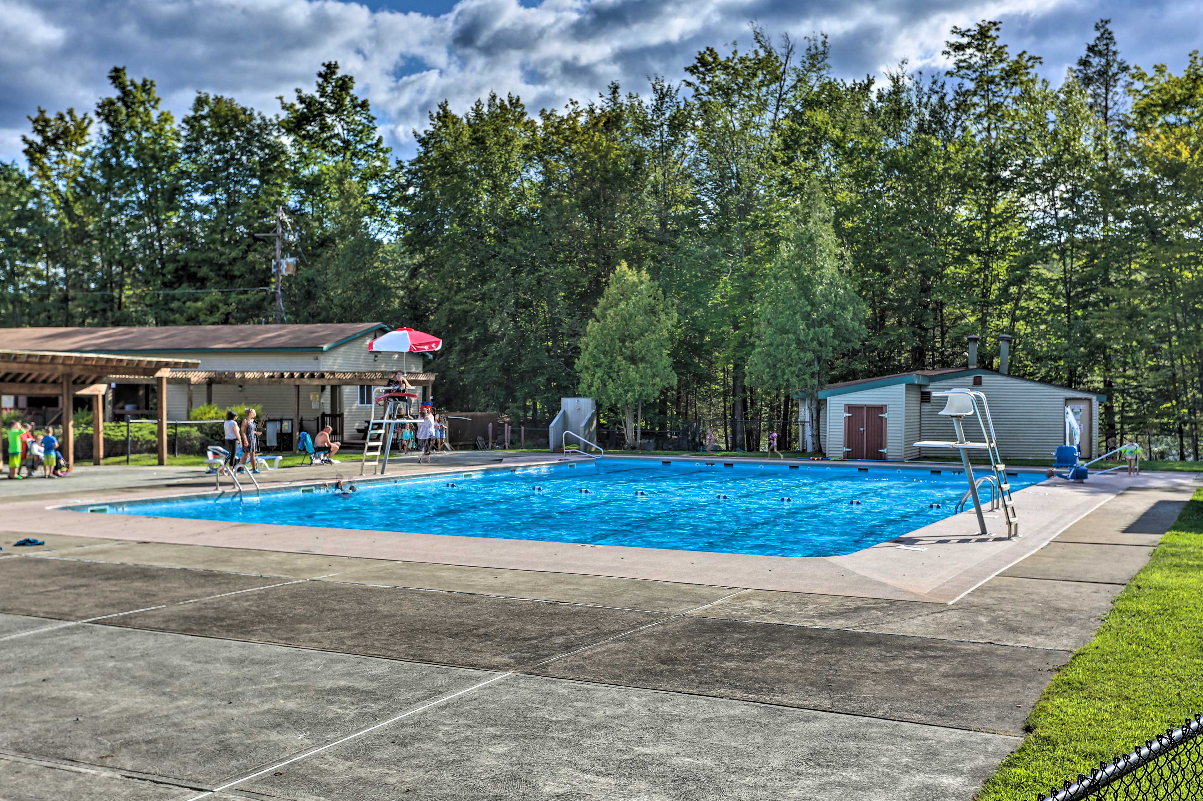 Make a splash in the in-ground pool.