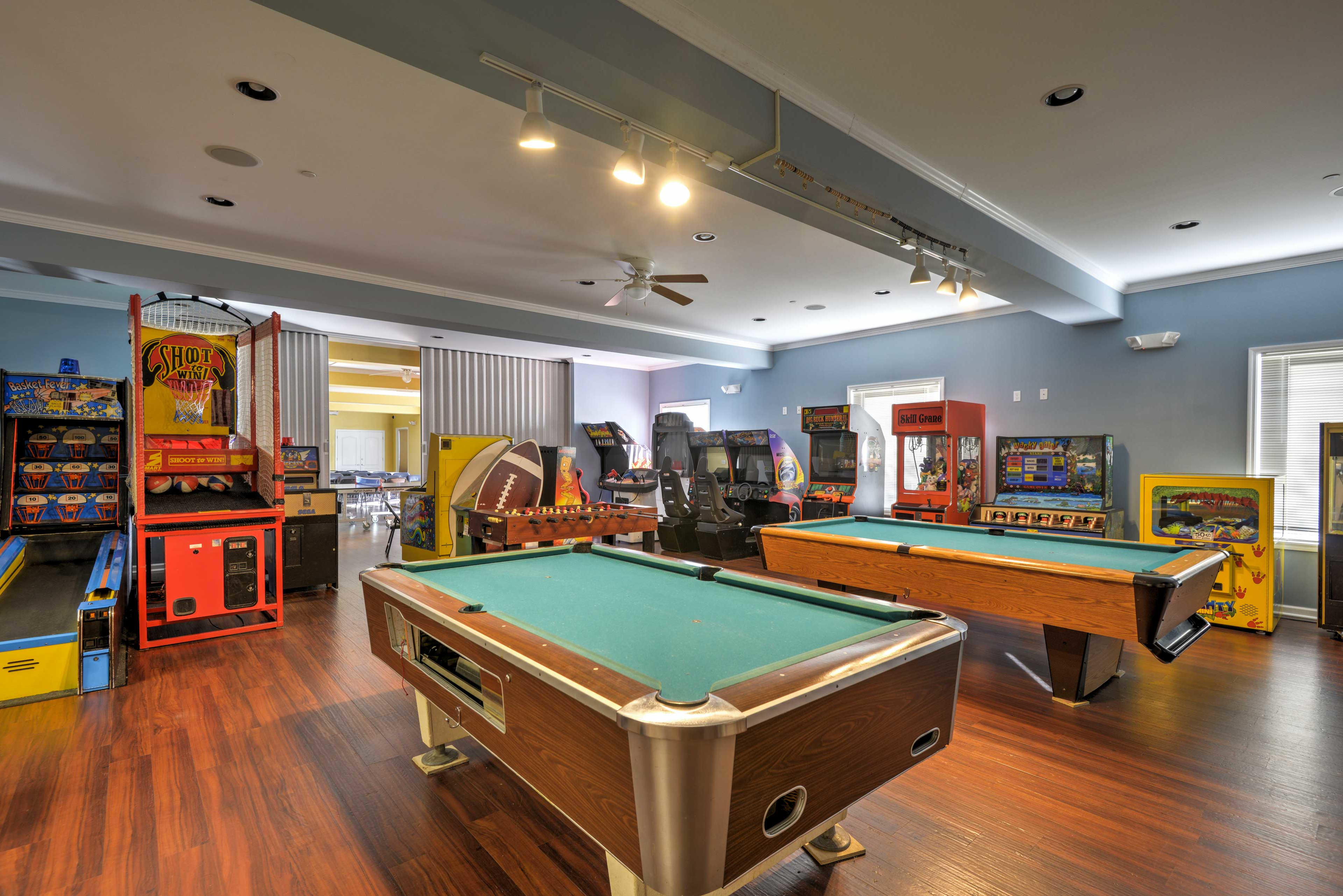 Kids will love the community's game room!