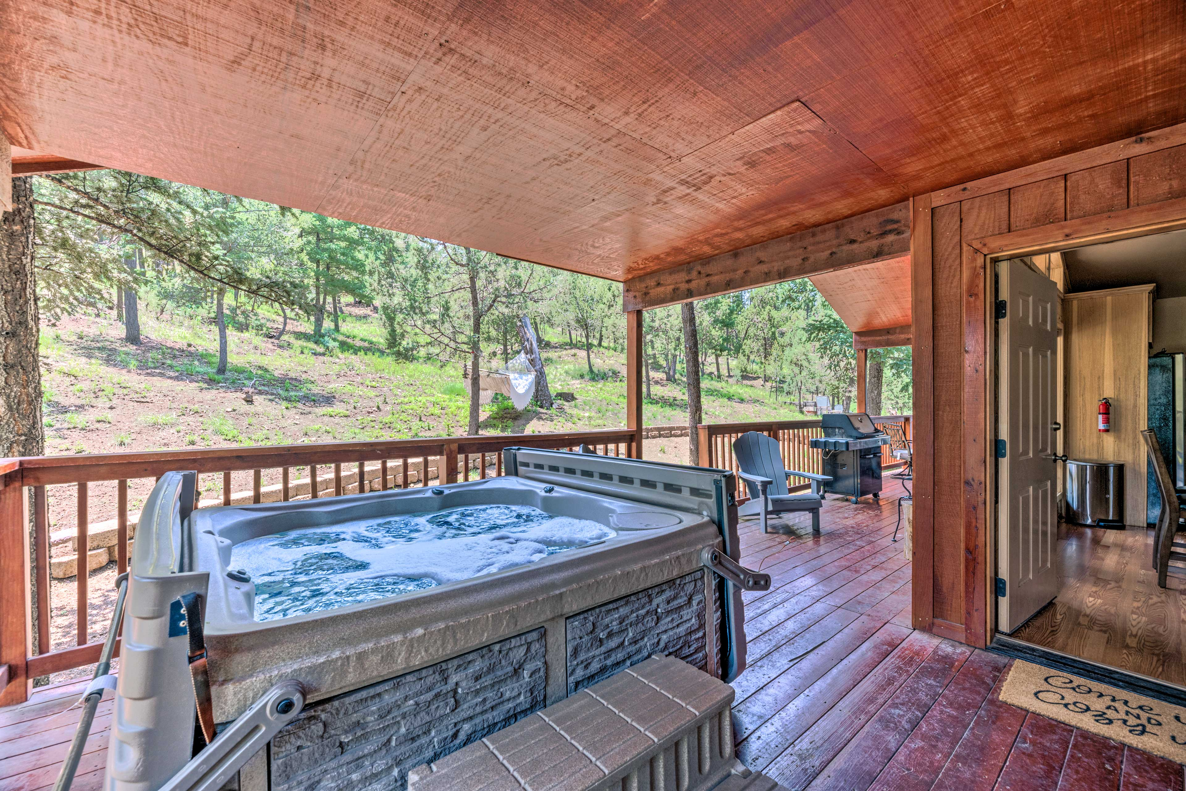 Covered Deck | Private Hot Tub